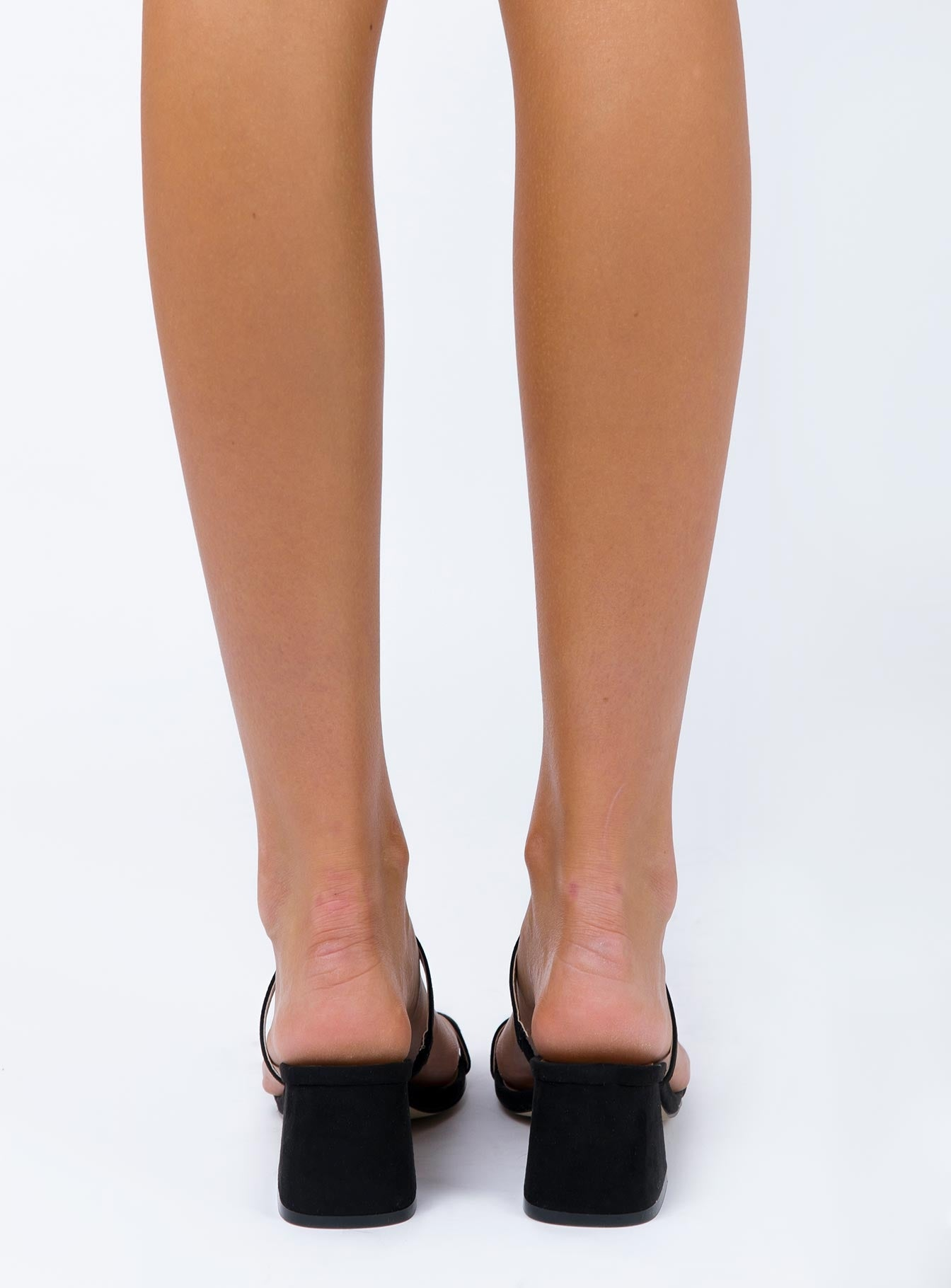 Therapy Goldie Heels Black Micro Suede