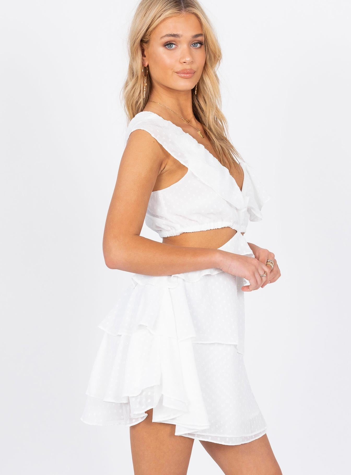 Flamenco Mini Dress White