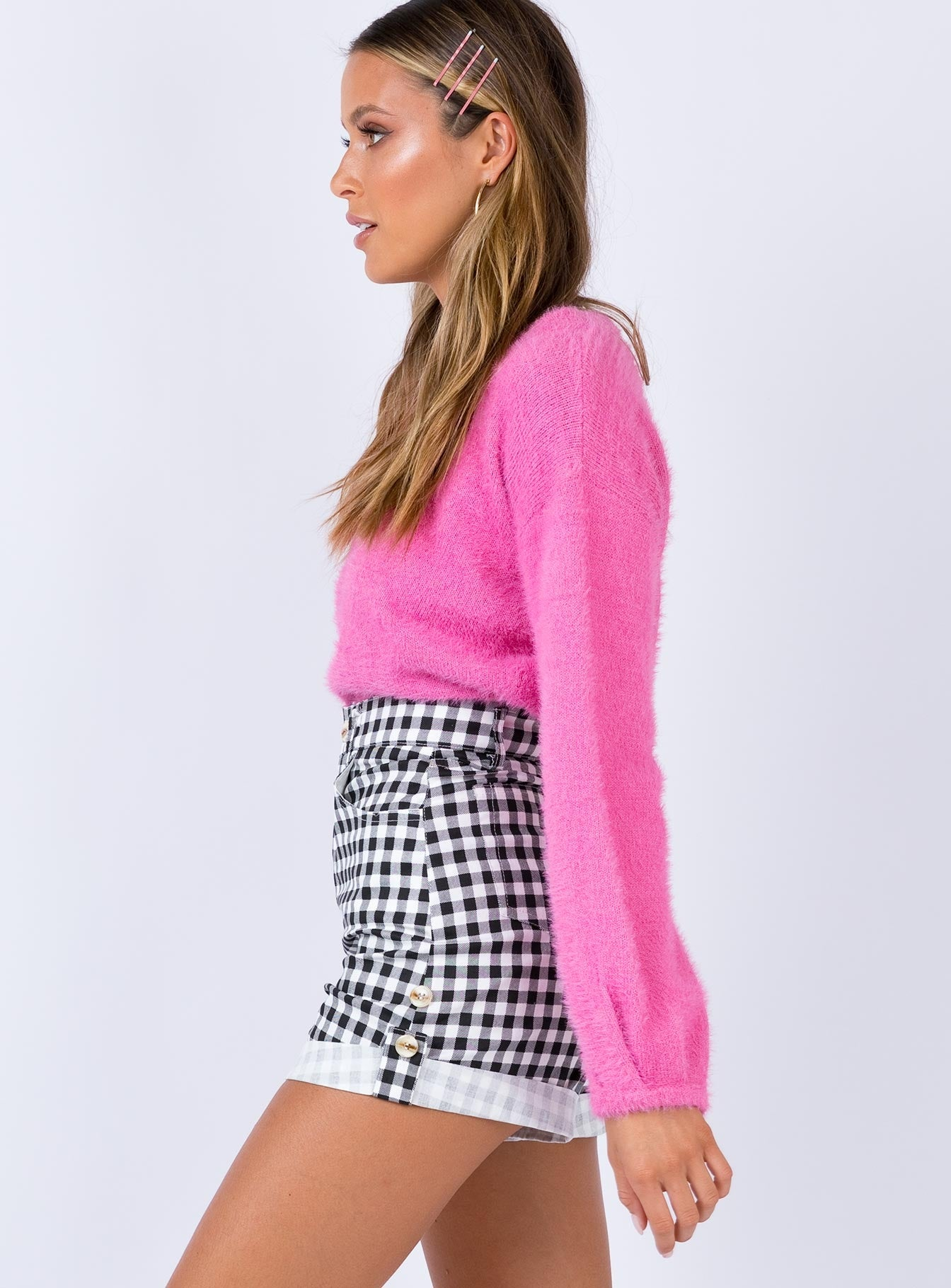 Off The Grid Gingham Shorts