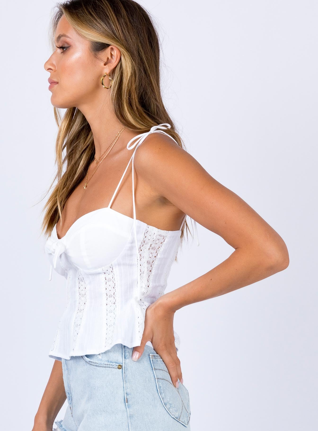 Laiken Top White