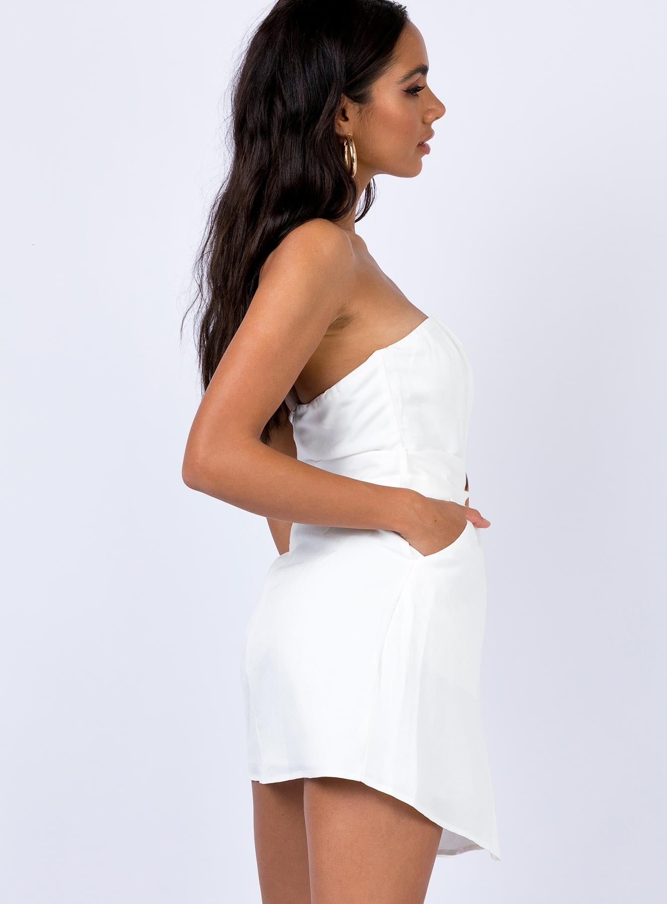Chipper Mini Dress White
