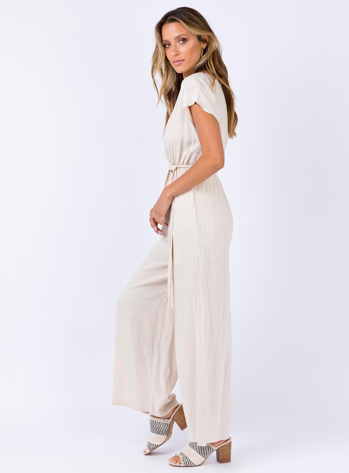 The Sian Jumpsuit Beige
