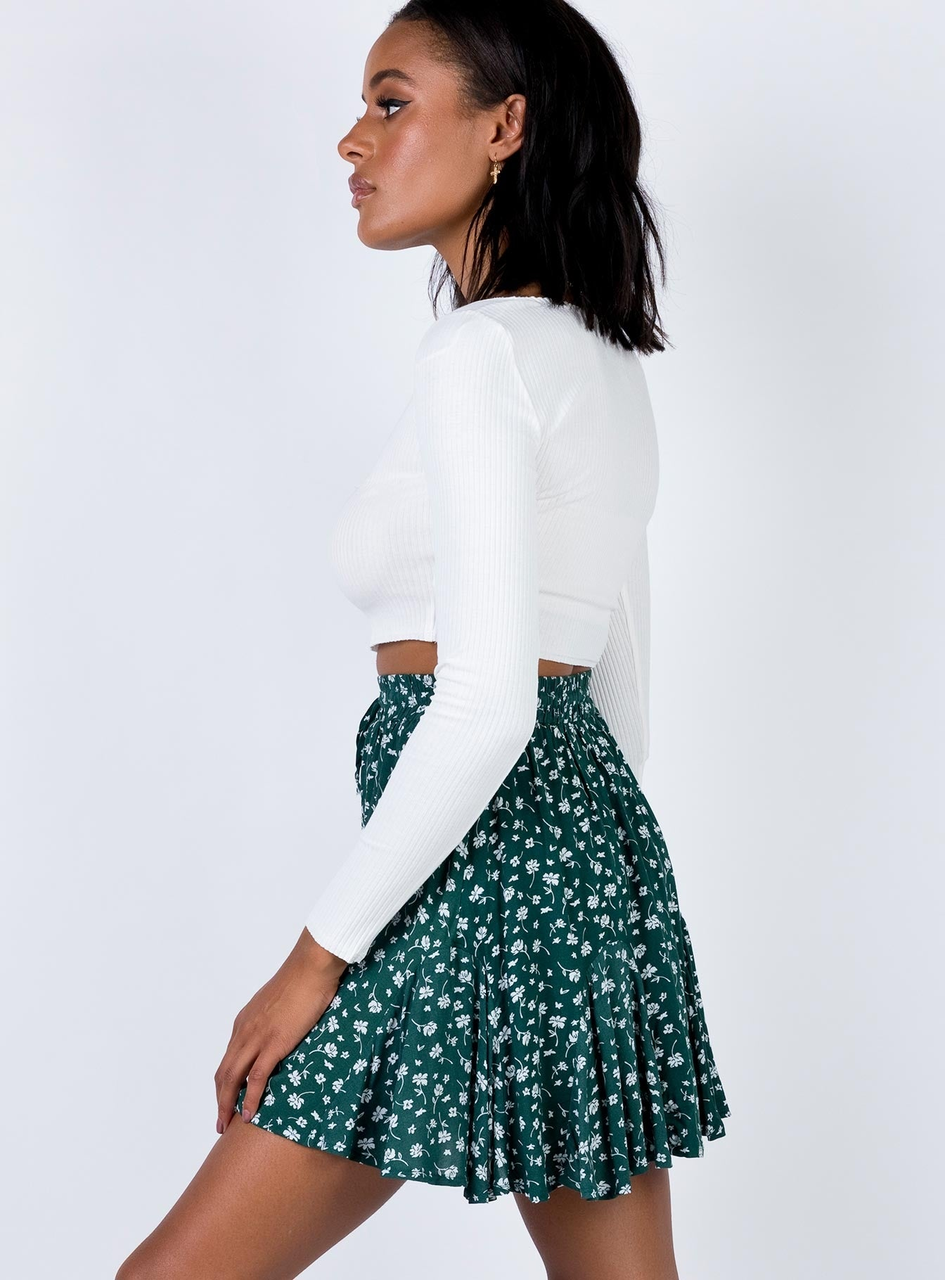 Delungra Mini Skirt Forest Green