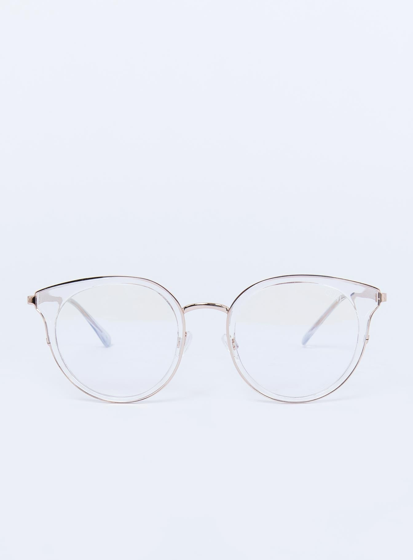 Quay Australia Blue Light Glasses Cryptic Clear