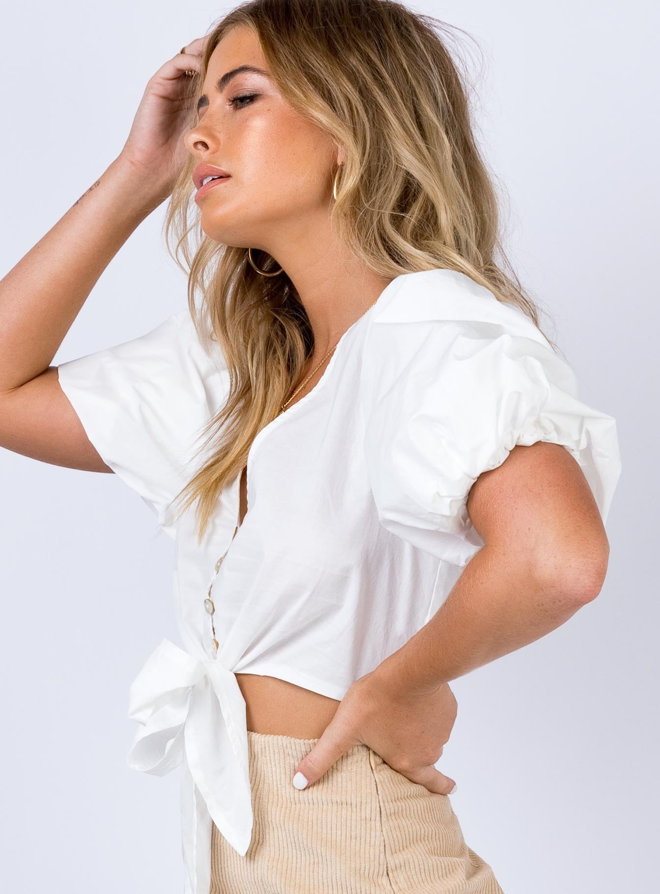 Henty Top White