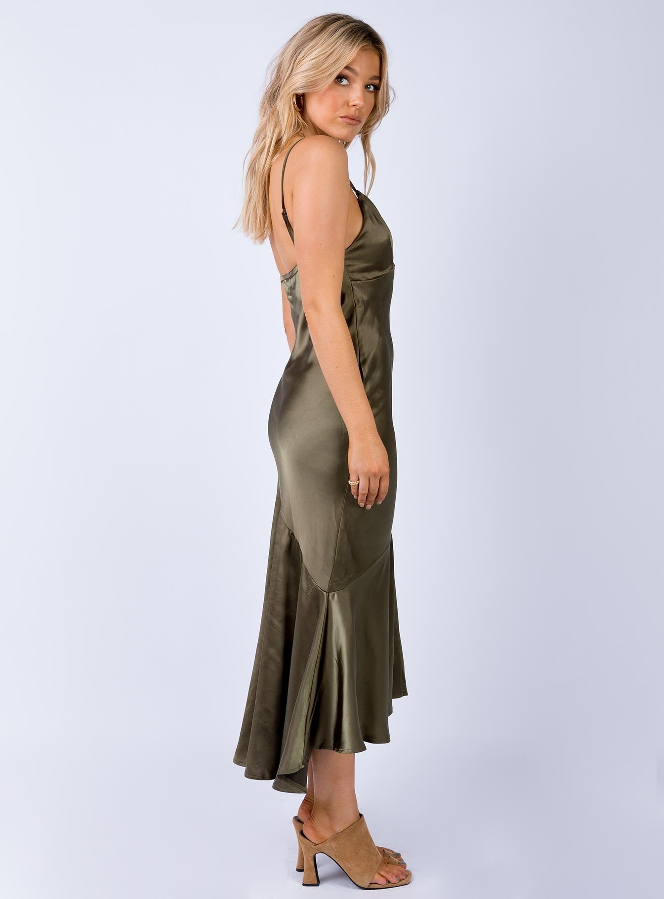 Swanley Maxi Dress Khaki