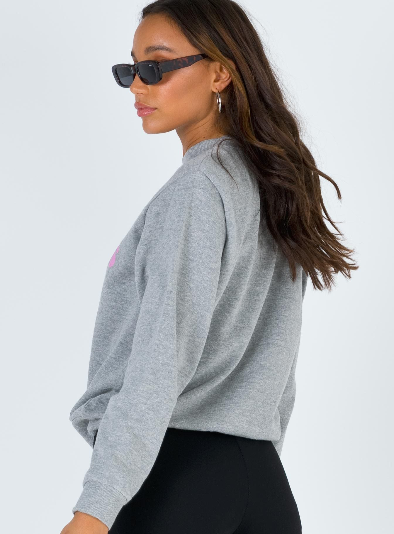 Rolla's Slouch Logo Sweater Heather