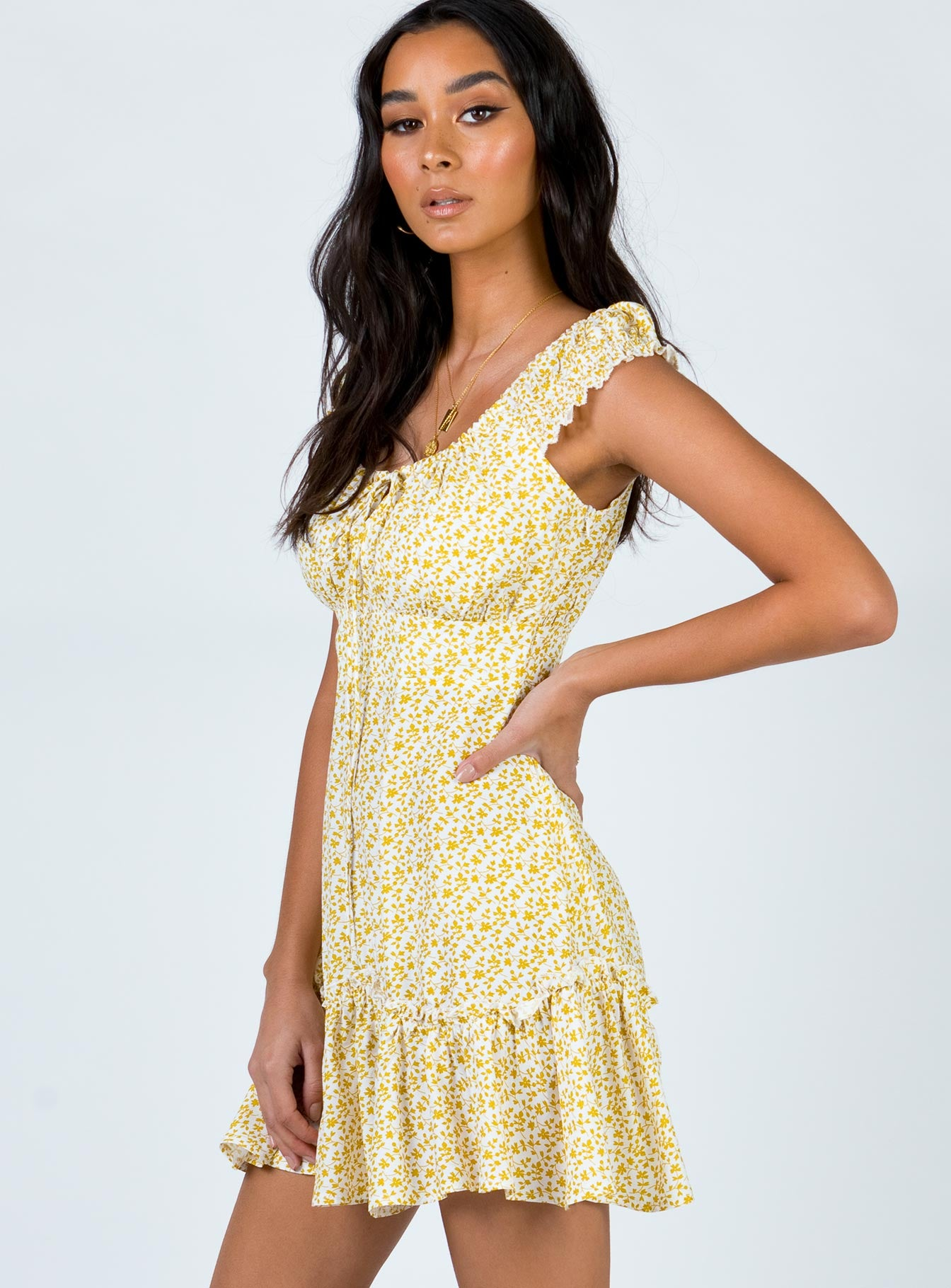 If You Dare Mini Dress Yellow
