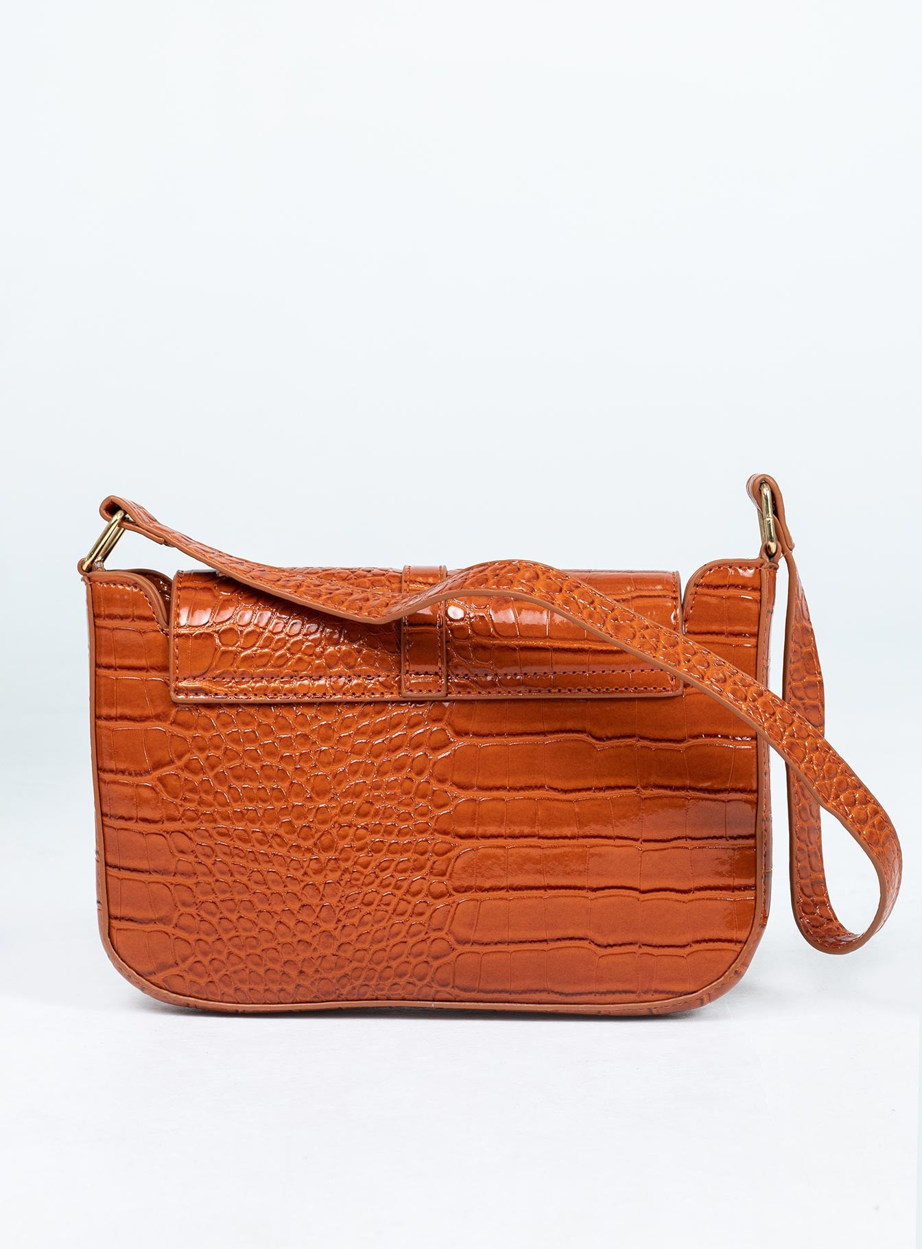 Beckett Bag Brown Croc