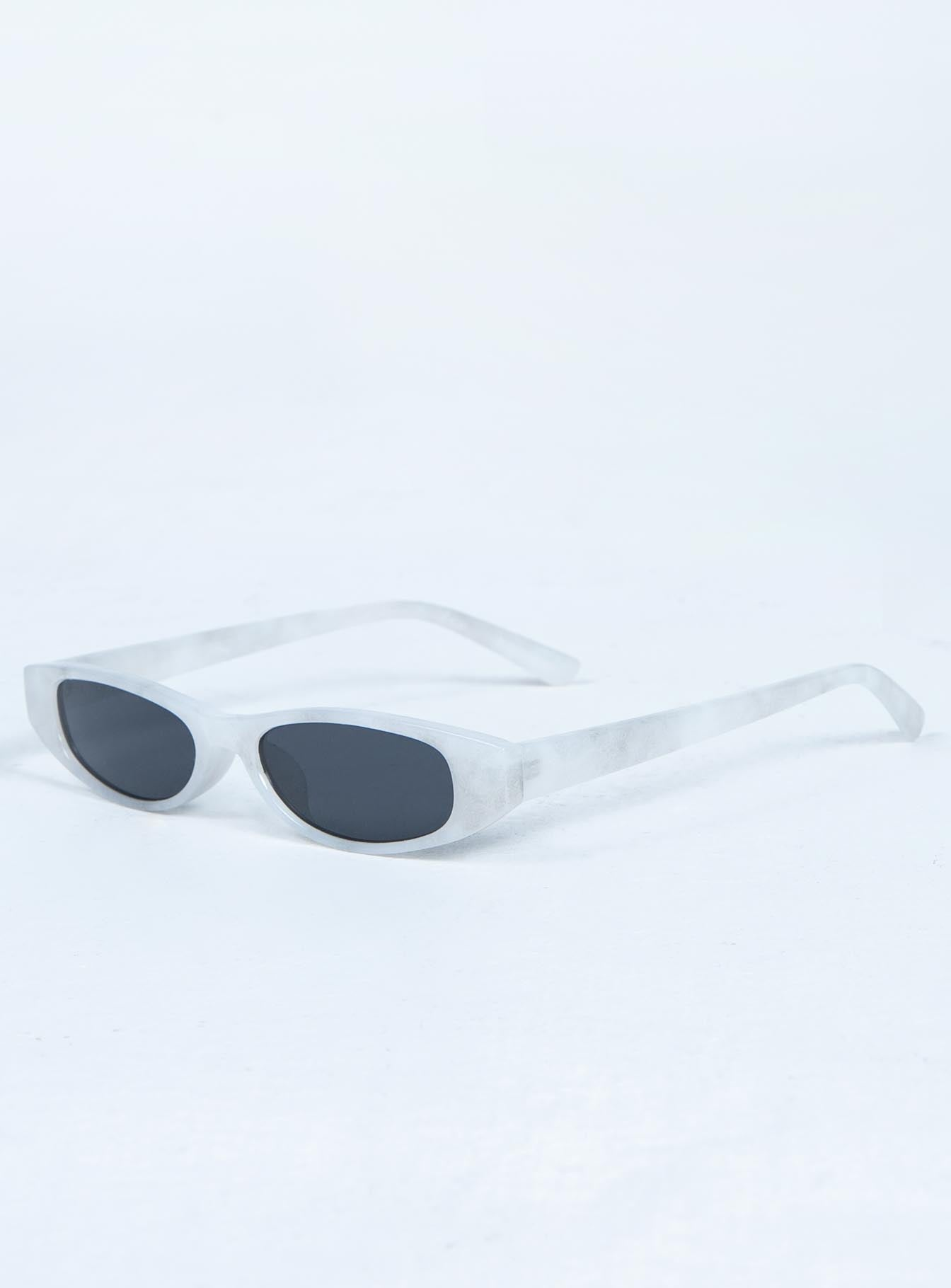 Matrix Slimline Sunglasses Pearl