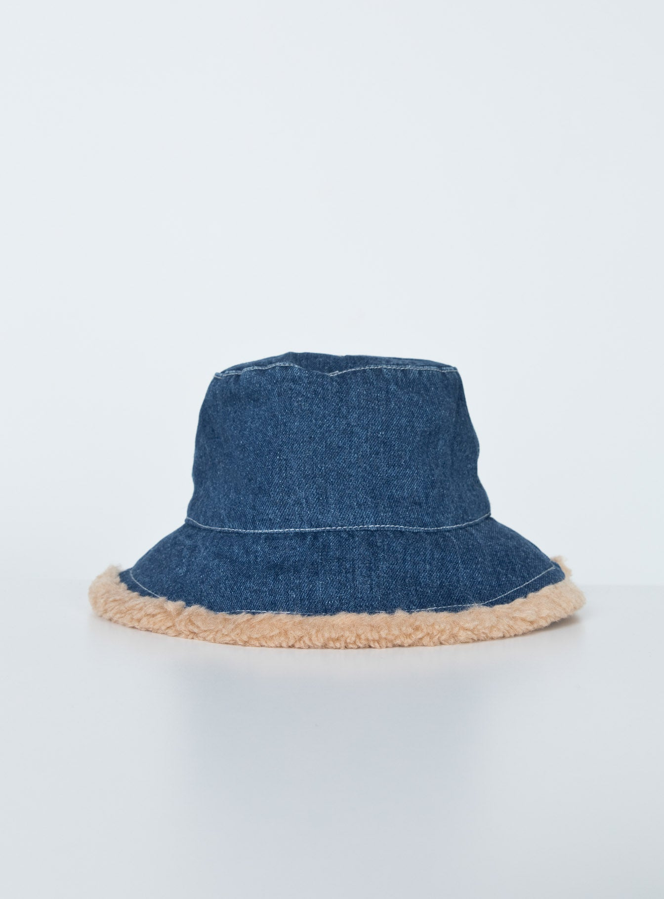 Roxy Denim Shearling Bucket Hat
