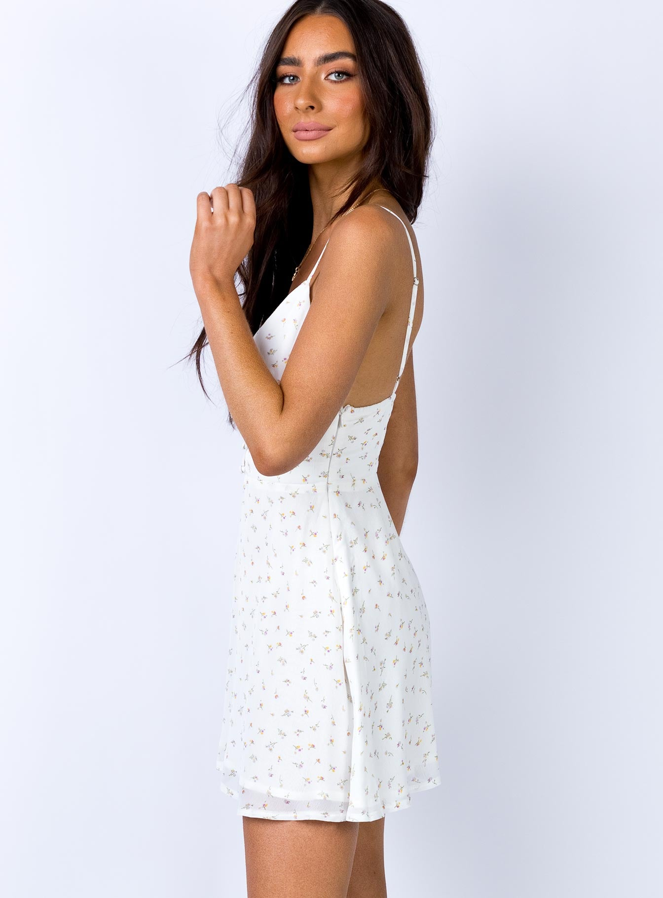 Amelia Mini Dress White