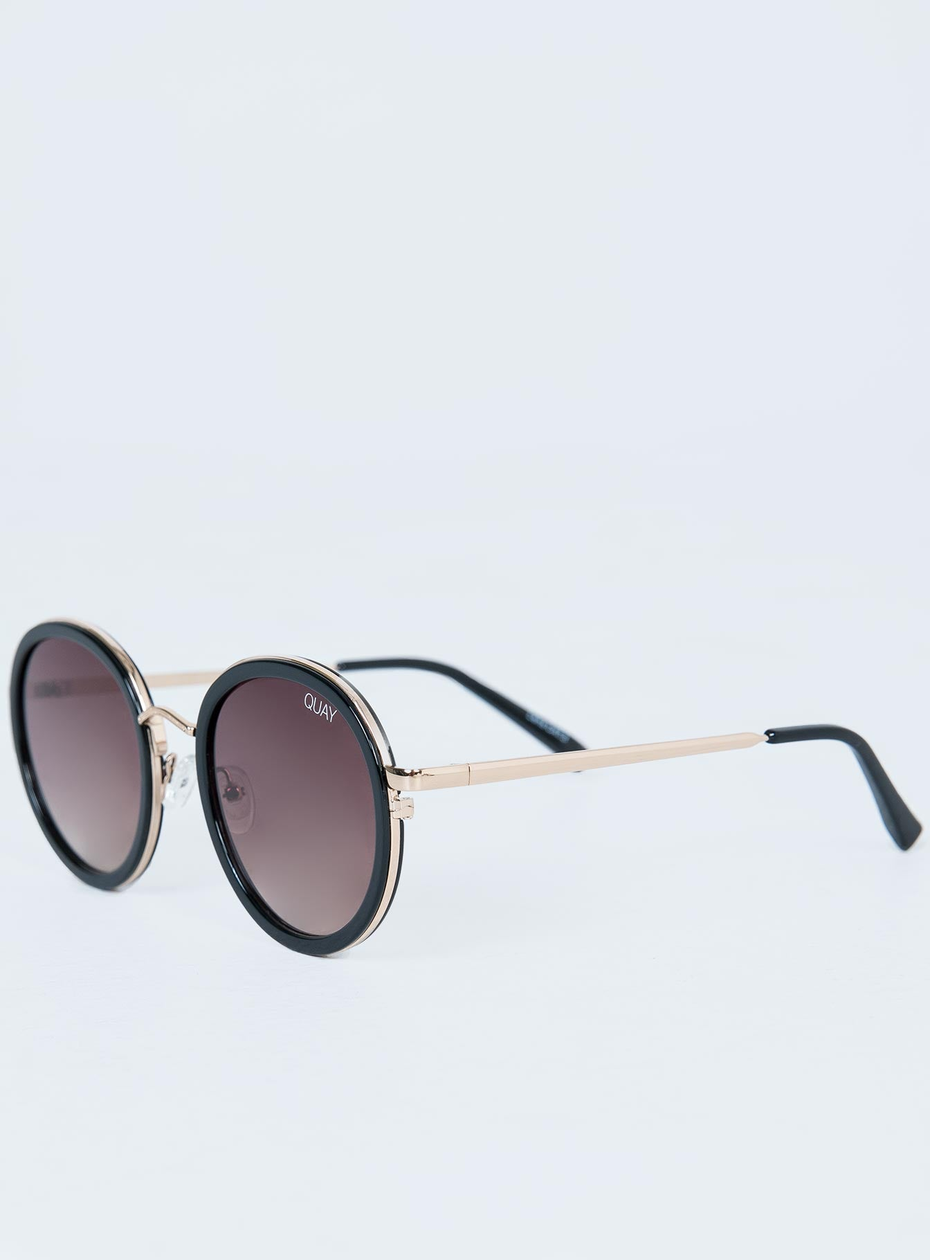 Quay Australia Firefly Sunglasses Black / Brown