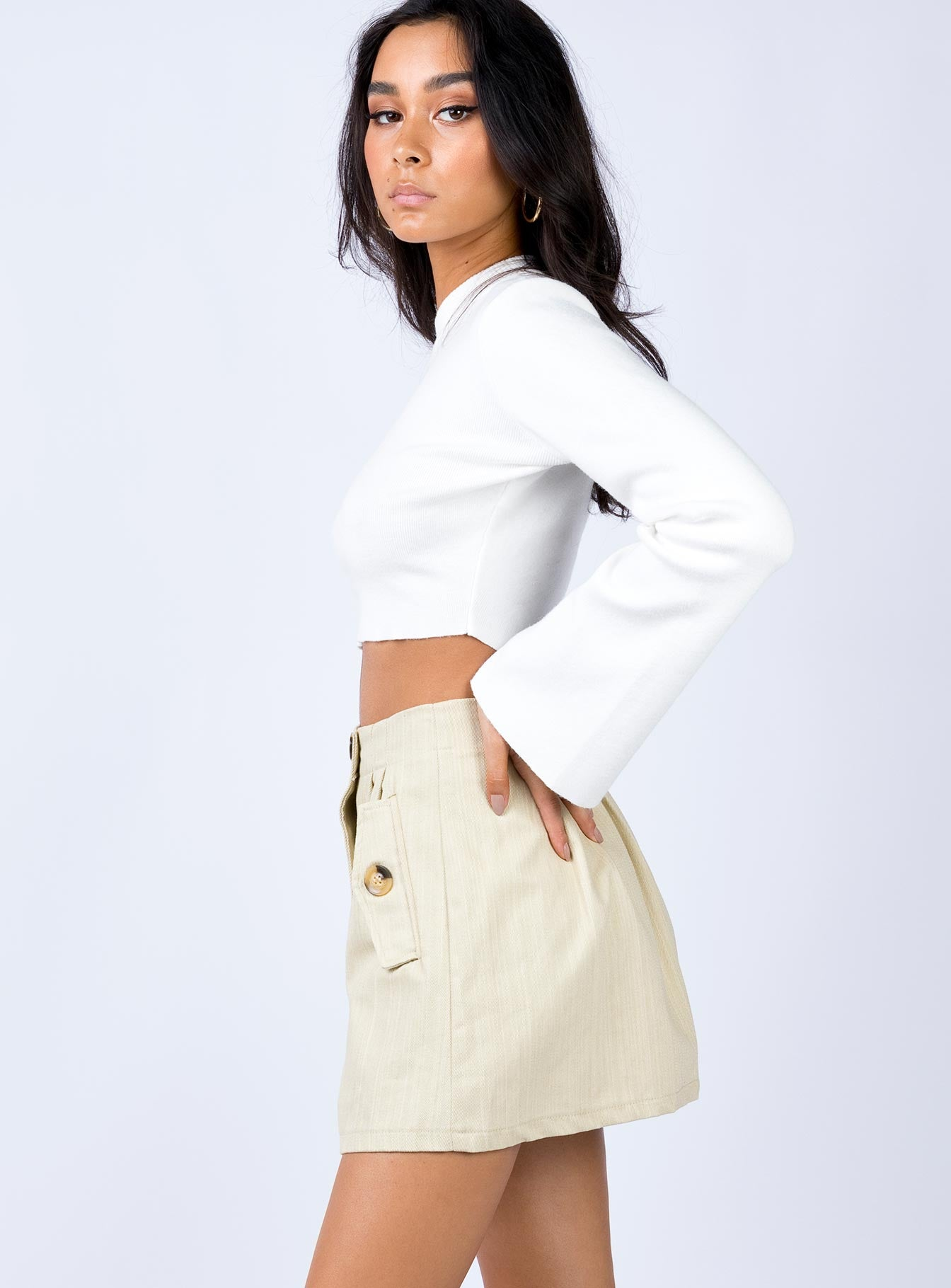 Newling Mini Skirt Beige