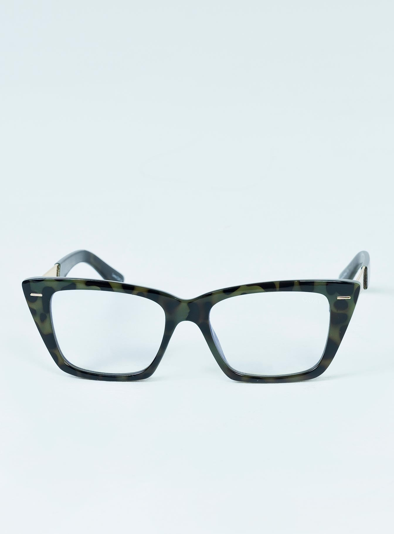 Quay Australia Prove It Blue Light Glasses Green Tort