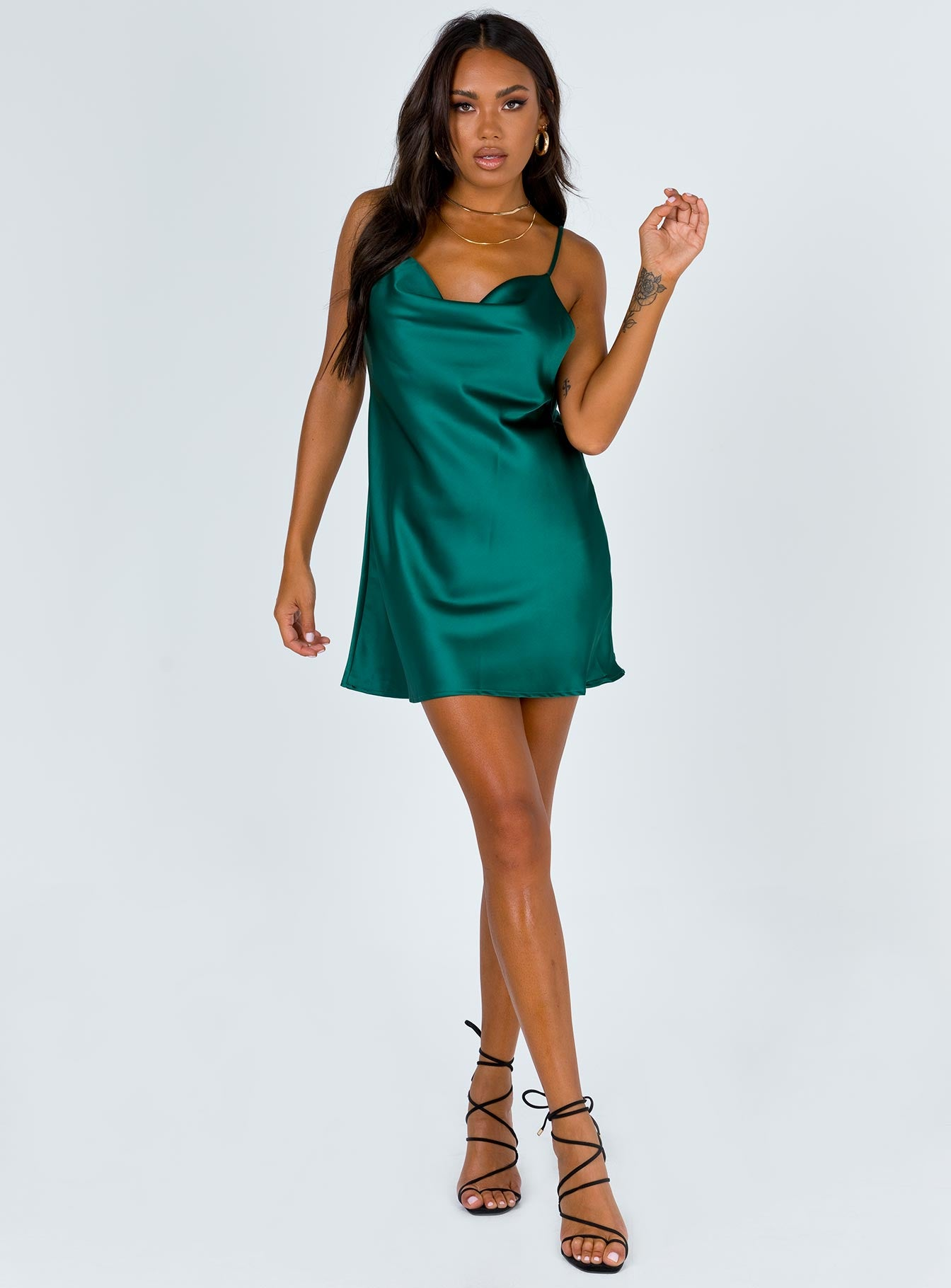 Betta Vanore Mini Dress Forest Green