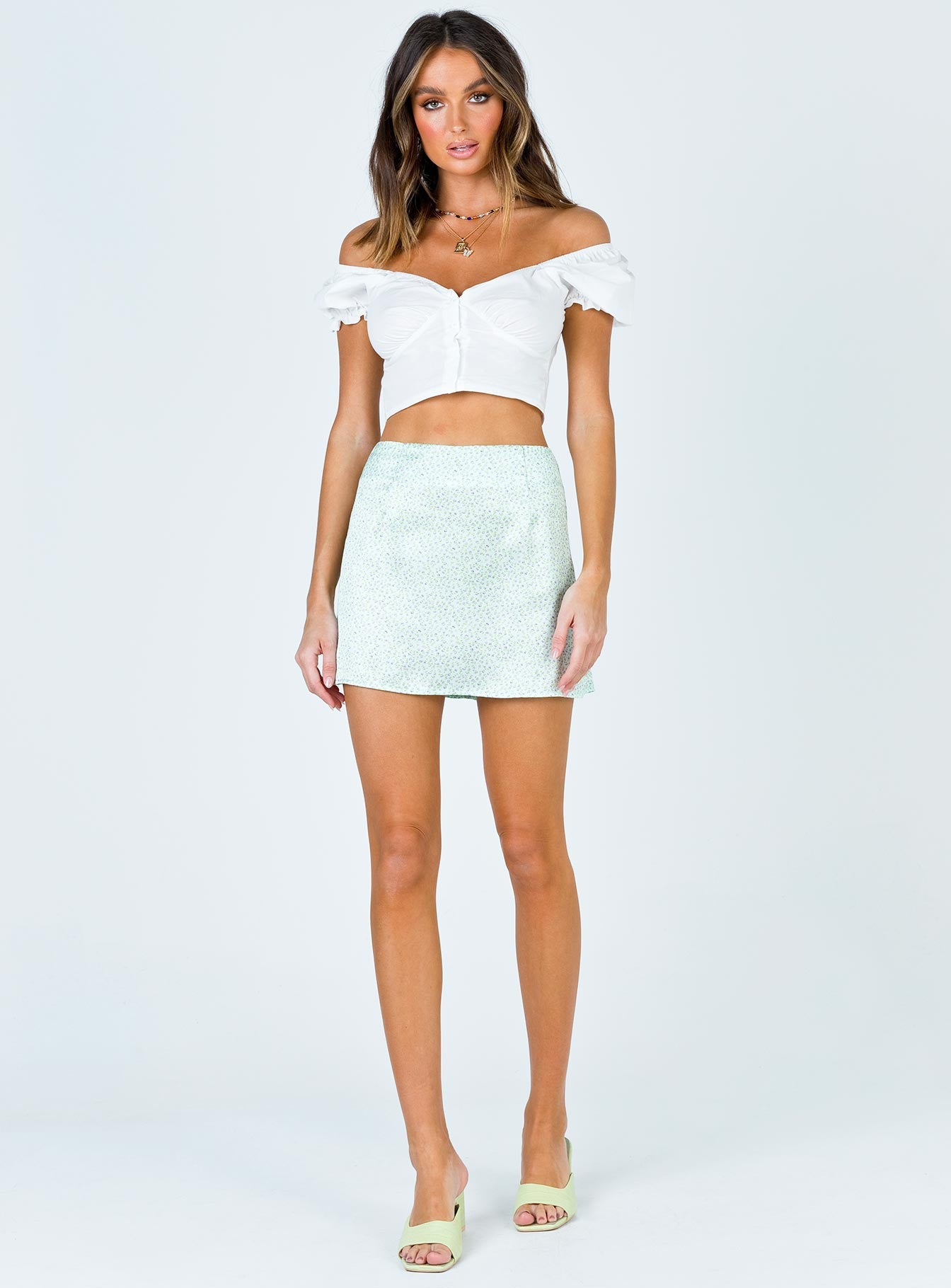 Abe Crop Top White