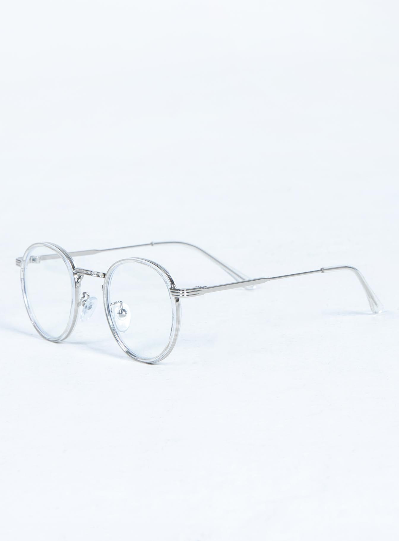 Talk it Out Blue Light Glasses Silver / Clear
