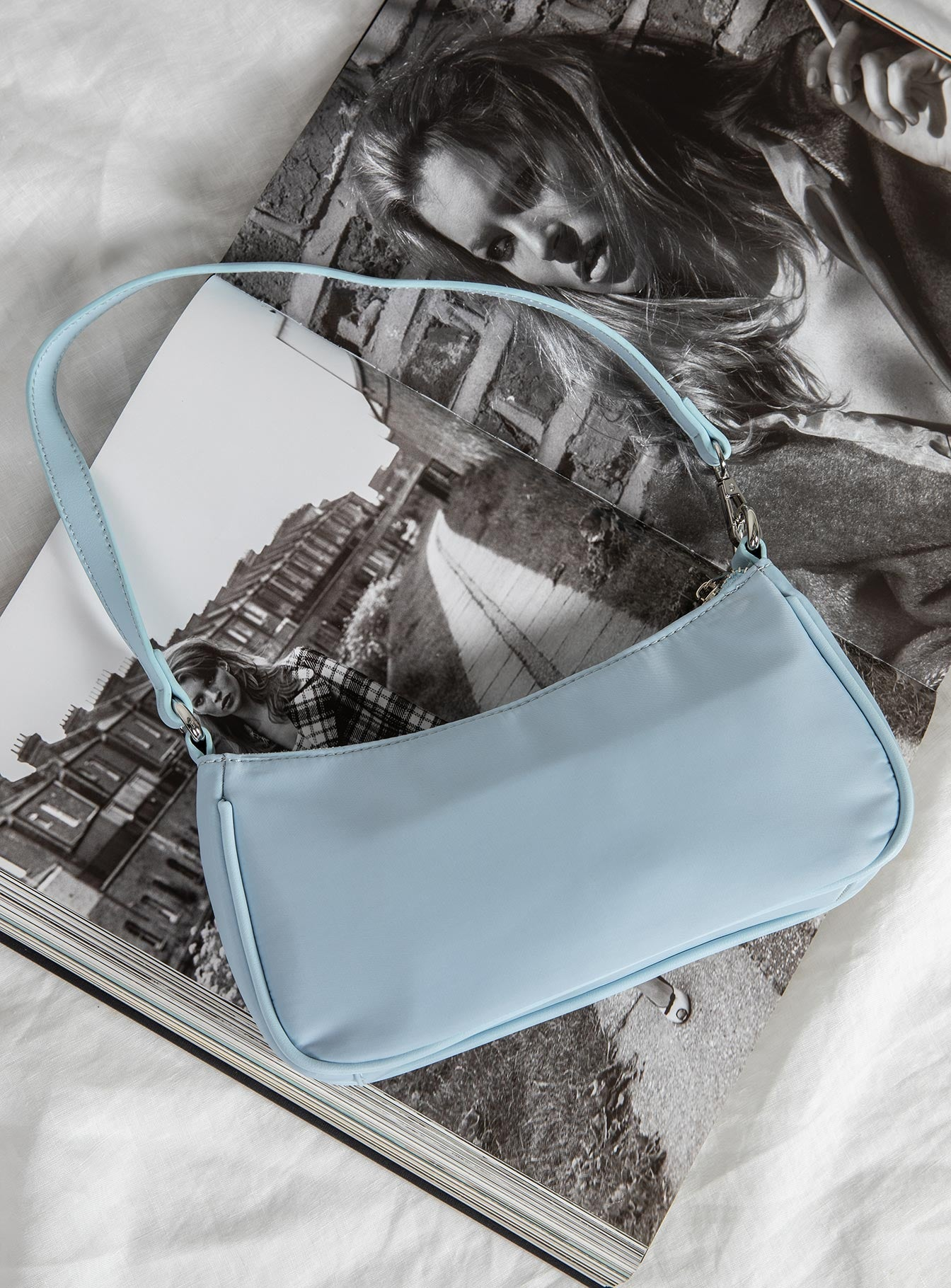 Peta & Jain Piper Bag Baby Blue Nylon