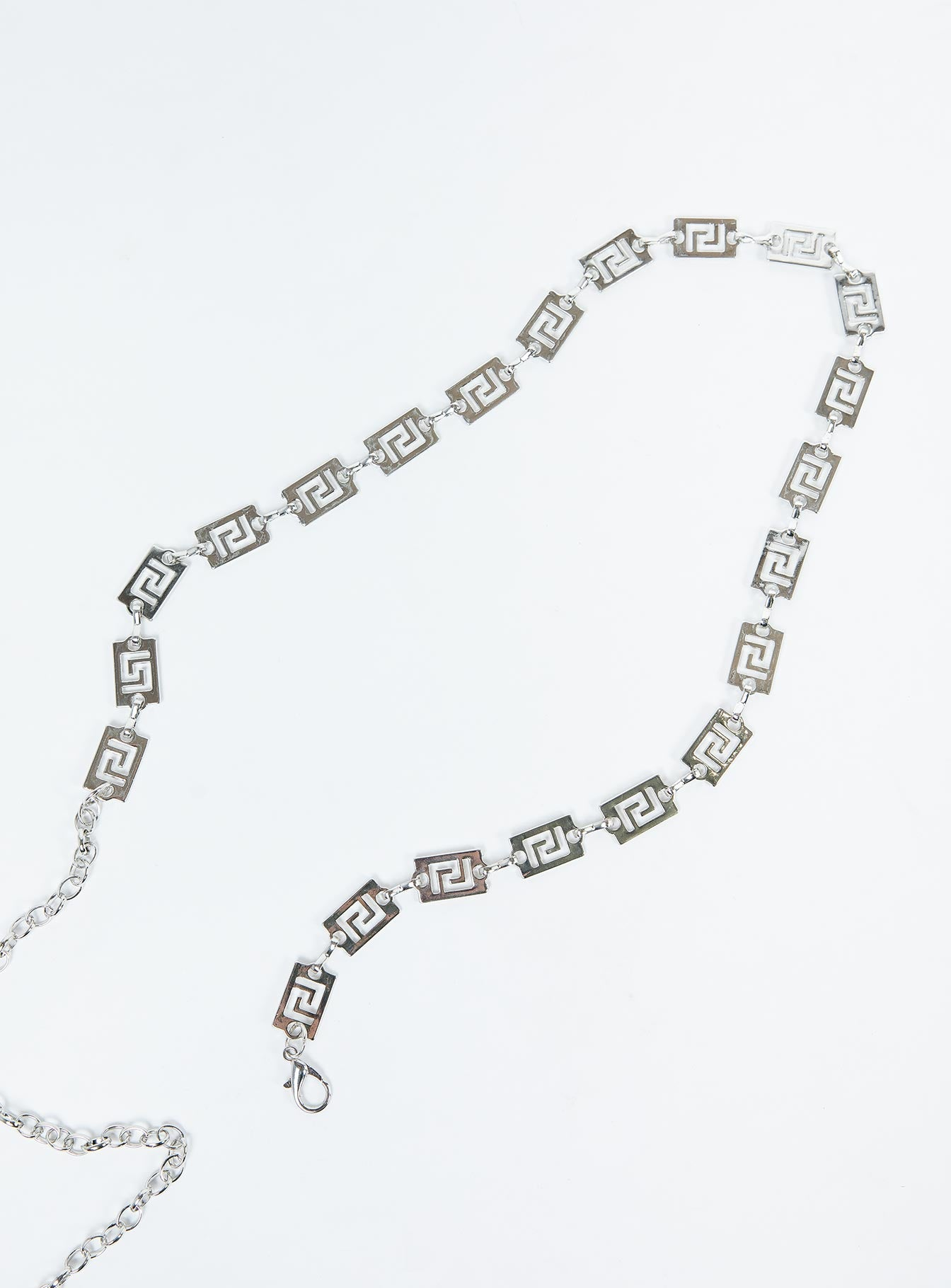 Messalina Chain Belt Silver
