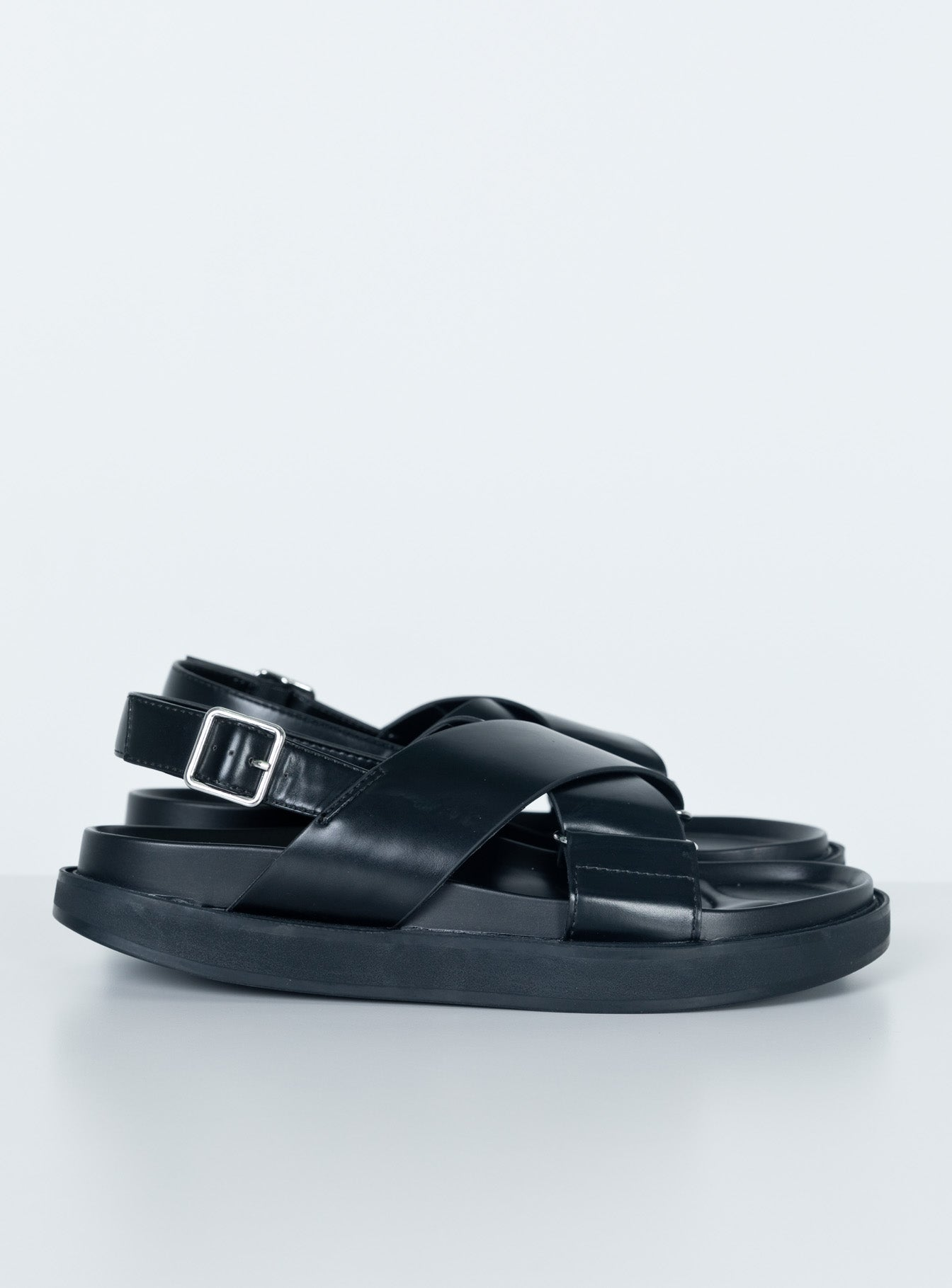 Pink Lemonade Sandals Black