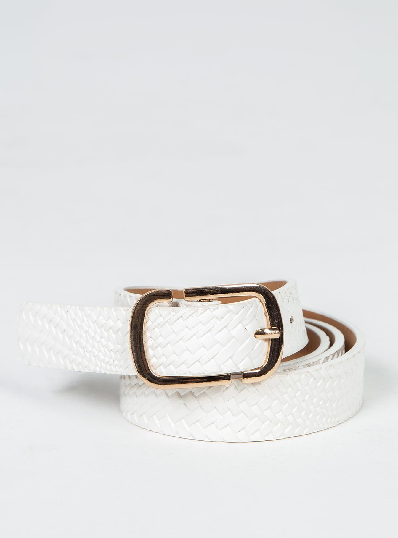 Tuesday Blues Belt White / Gold