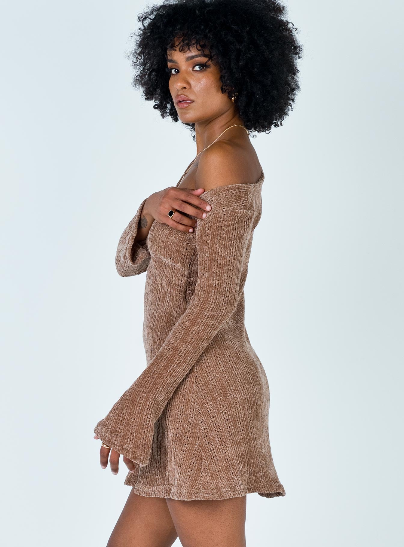 Boho Babe Mini Dress Mocha