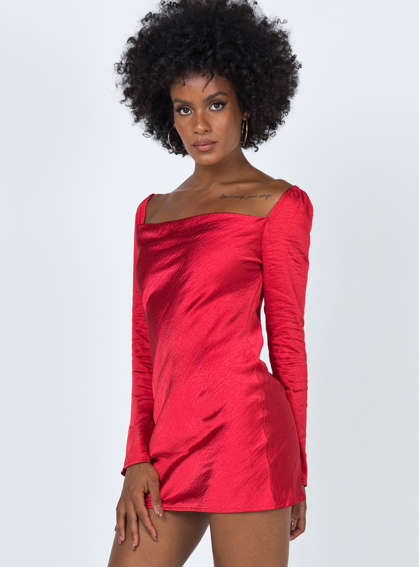 Star Power Mini Dress Red