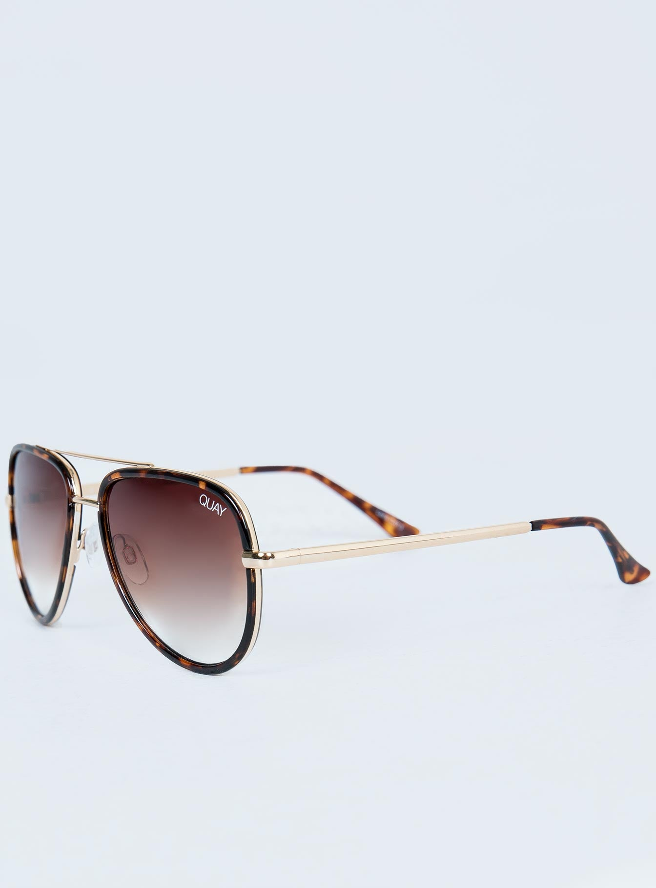 Quay Australia Tort All In Mini Sunglasses