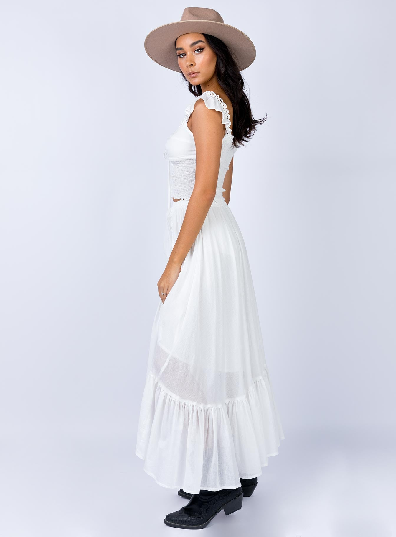 Ennis Maxi Skirt White