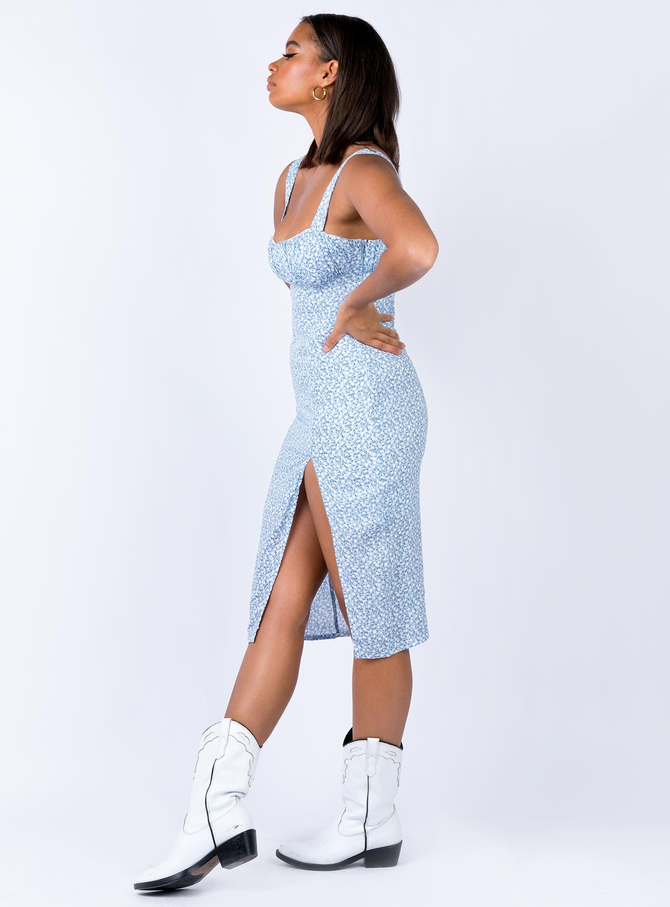 Katarina Midi Dress Blue