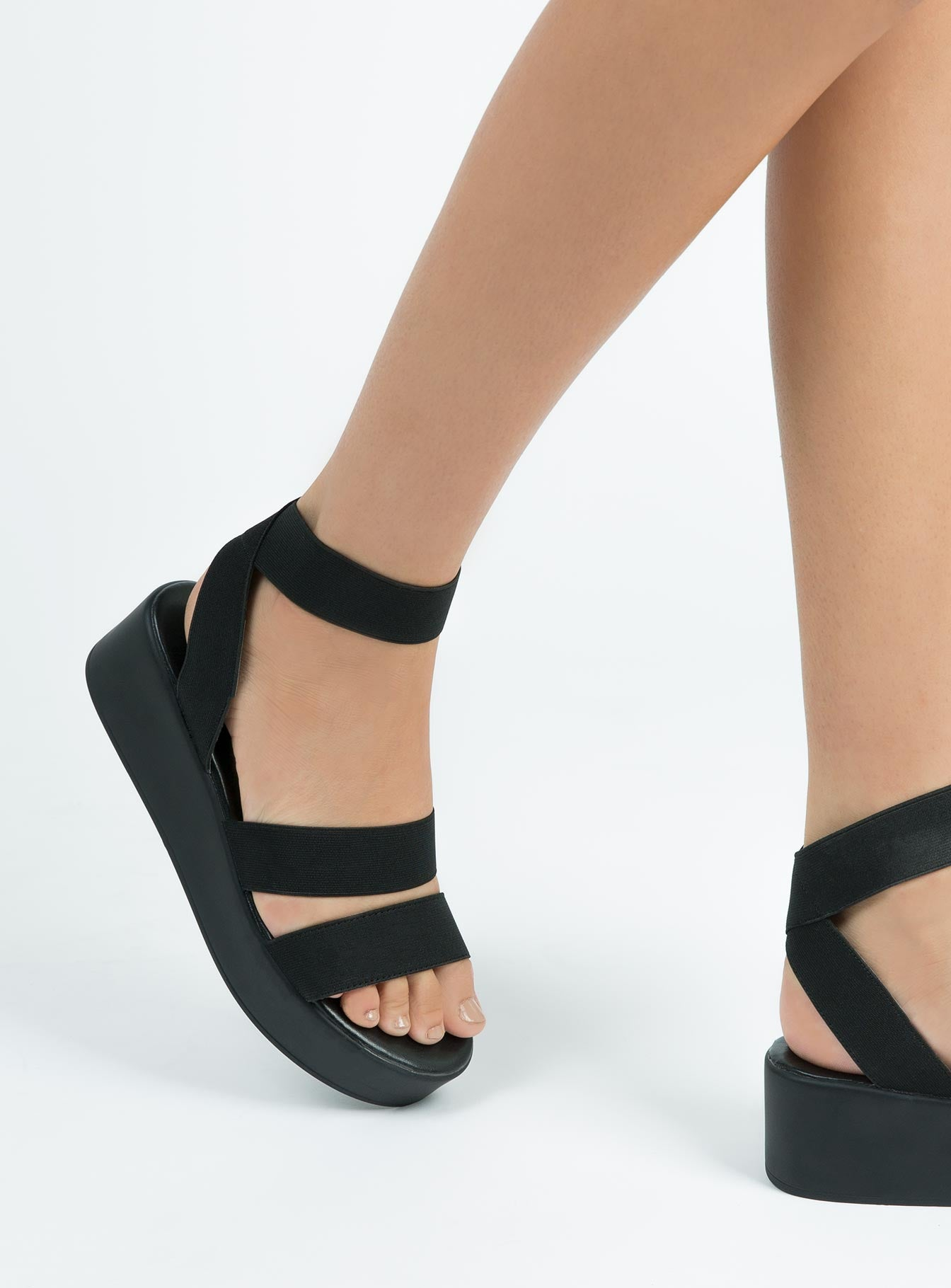 Black Elastic Rafter Sandals – Princess Polly USA