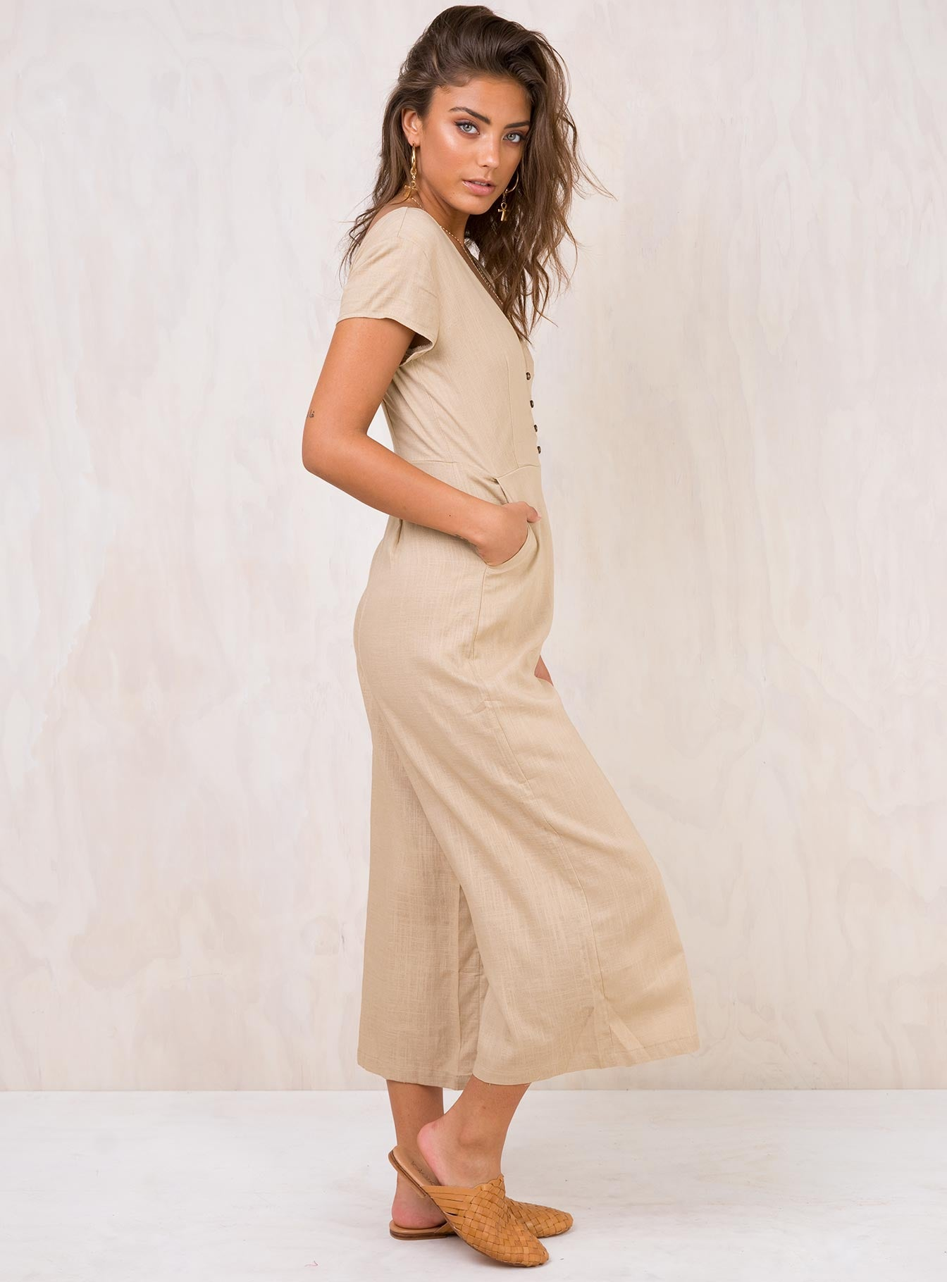 Seven Days Jumpsuit Beige