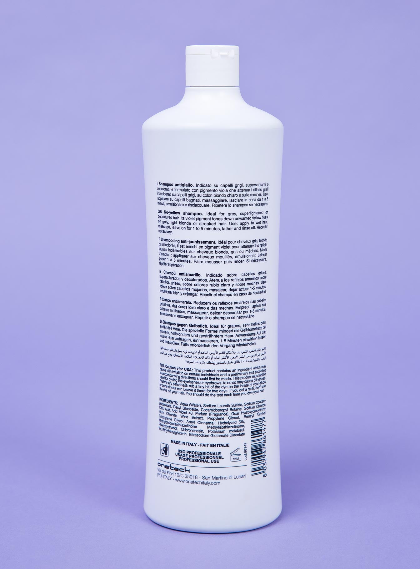 Fanola No Yellow Shampoo 1Ltr Purple