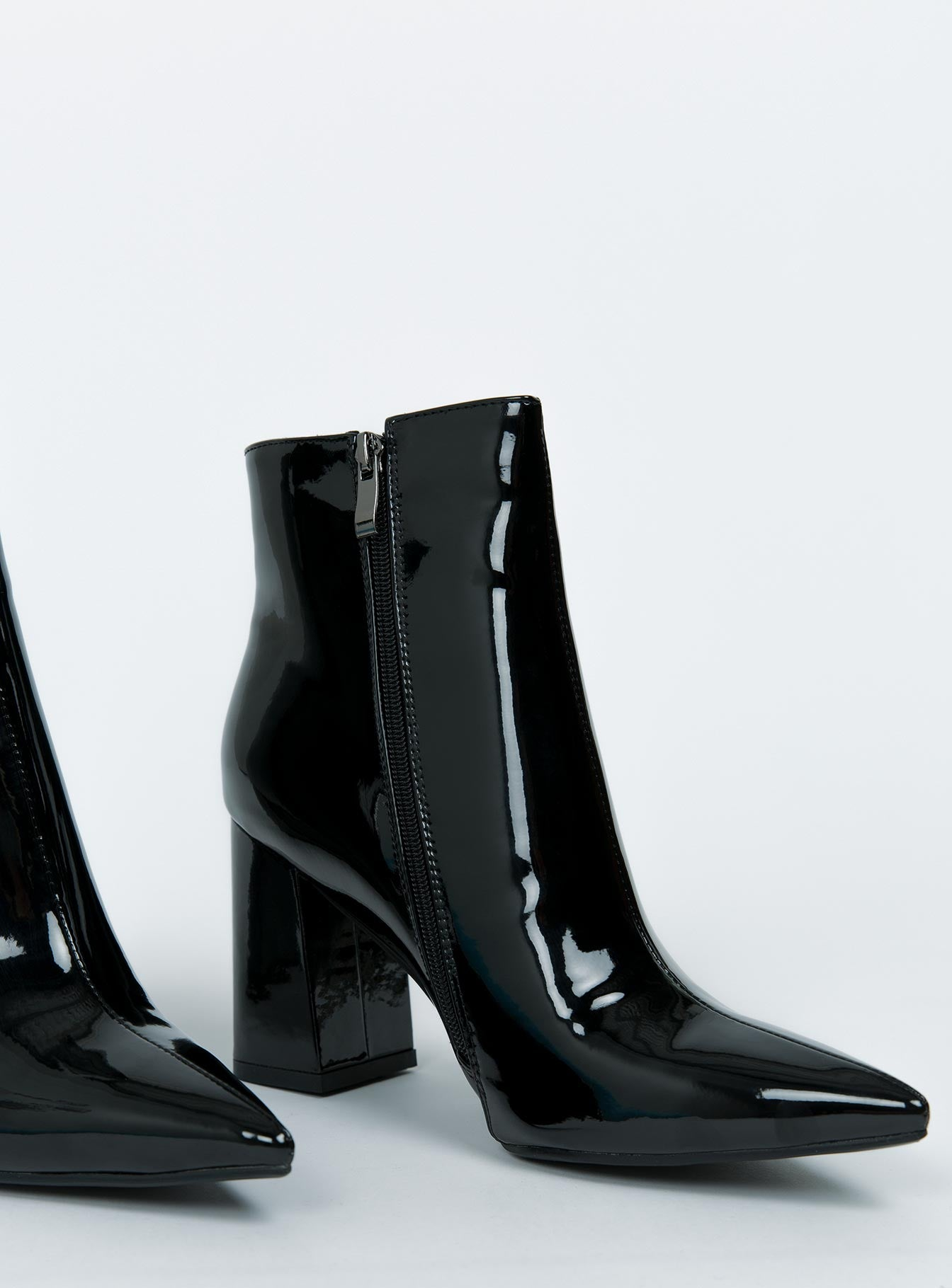 Therapy Black Patent Alloy Boots