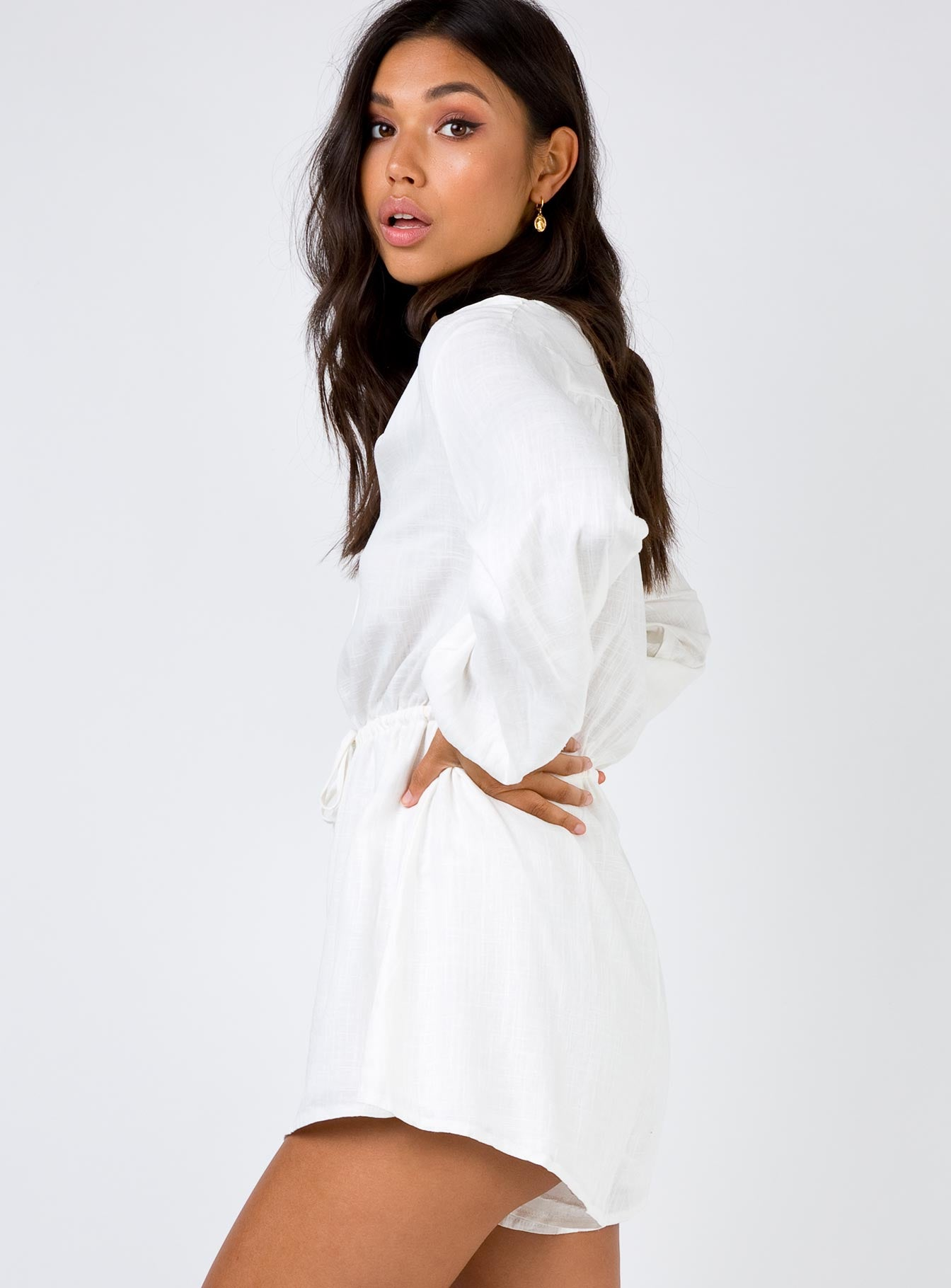 Donna Mae Playsuit Off White