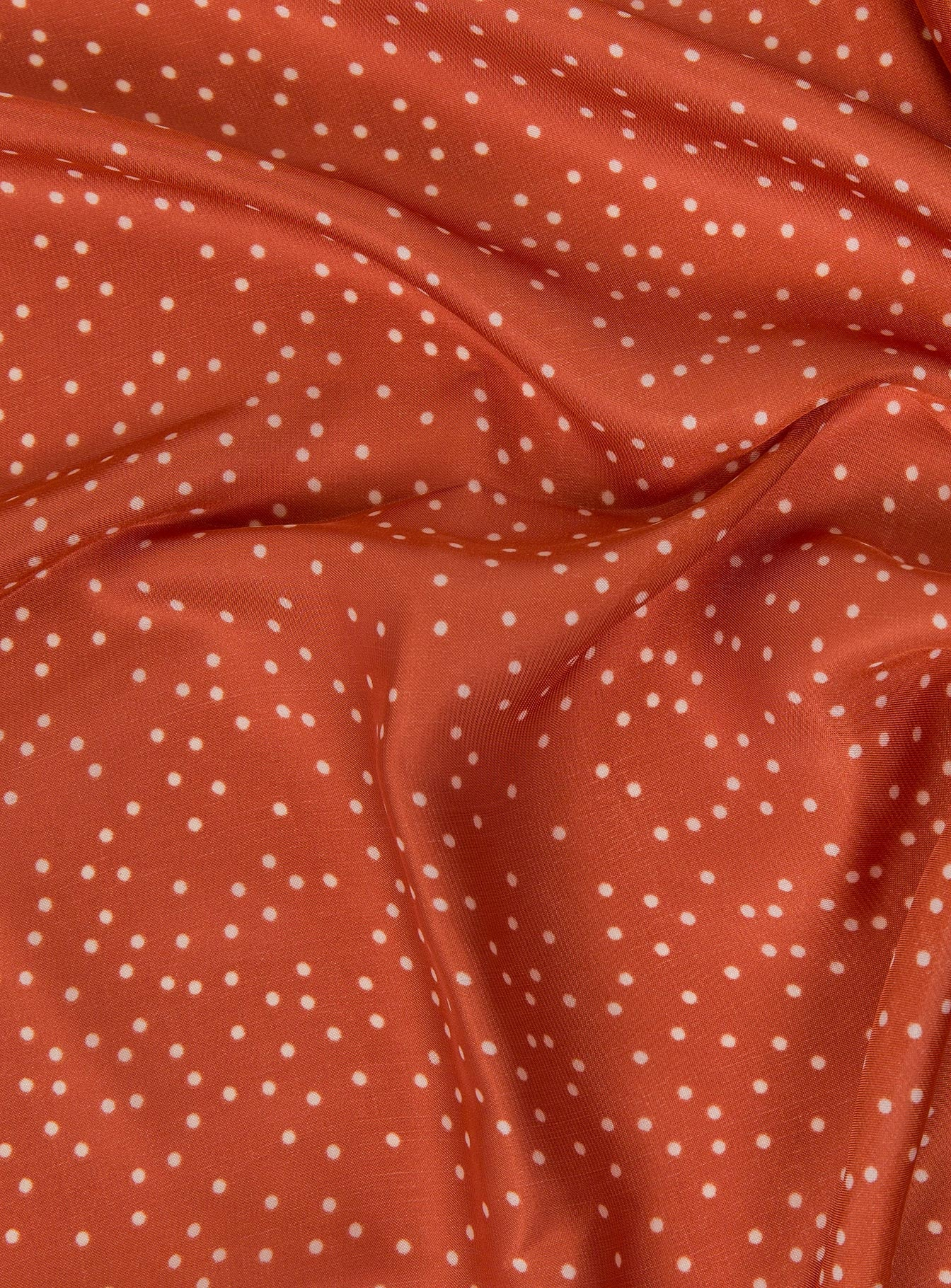 Polka Dot Square Scarf Rust