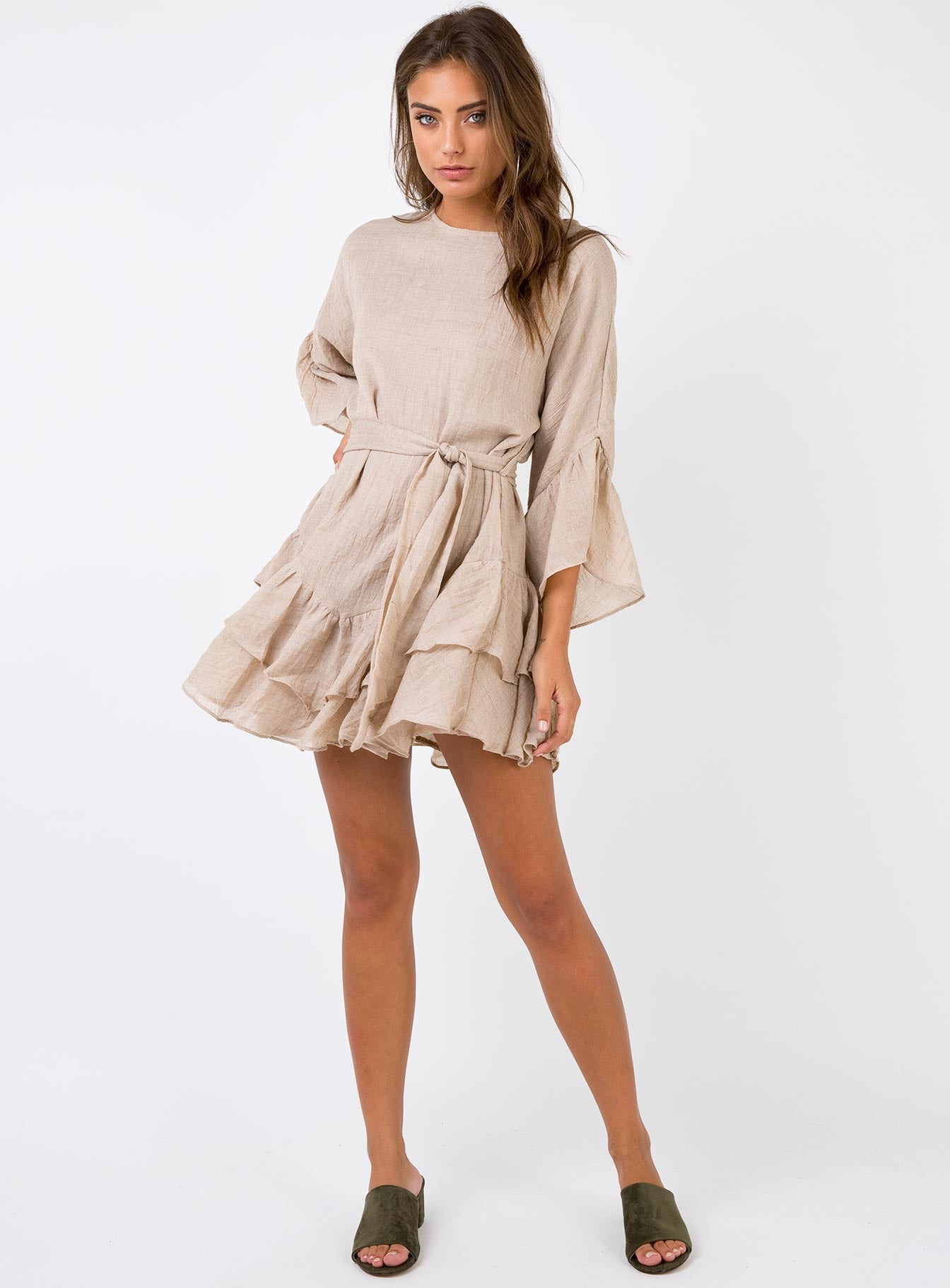Antique Wish Mini Dress Mocha