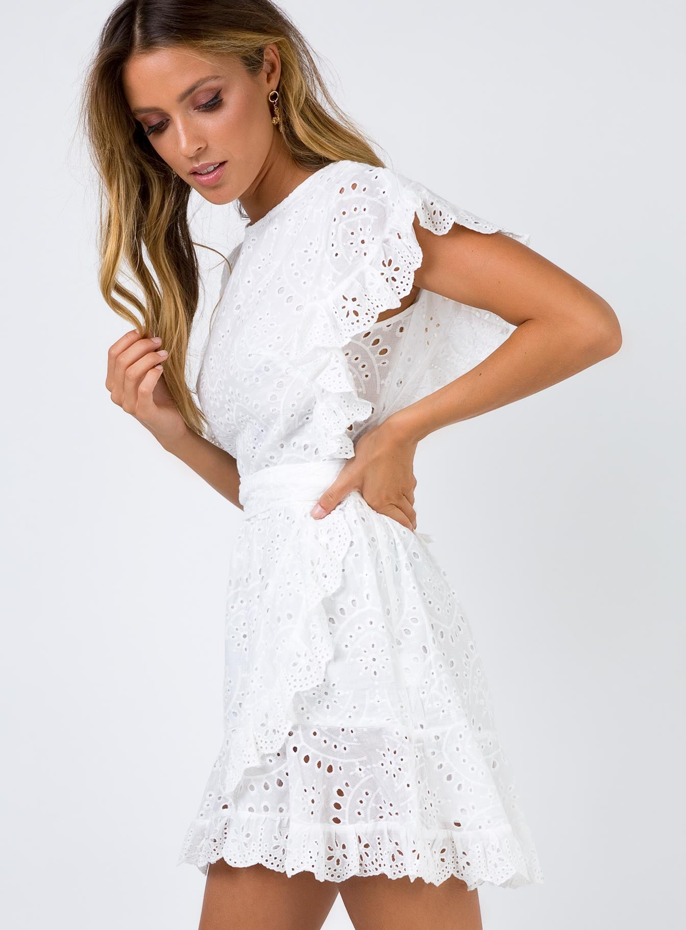 Dandelion Mini Dress White