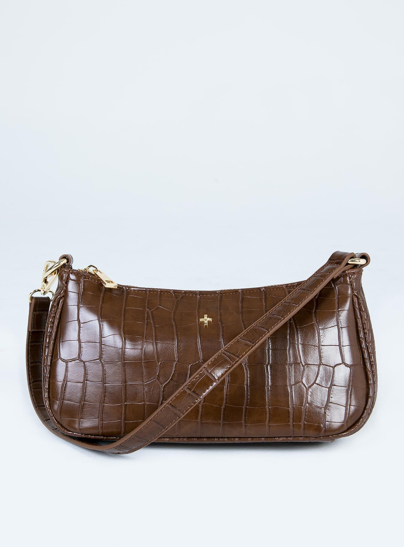 Peta & Jain Piper Bag Chocolate Croc