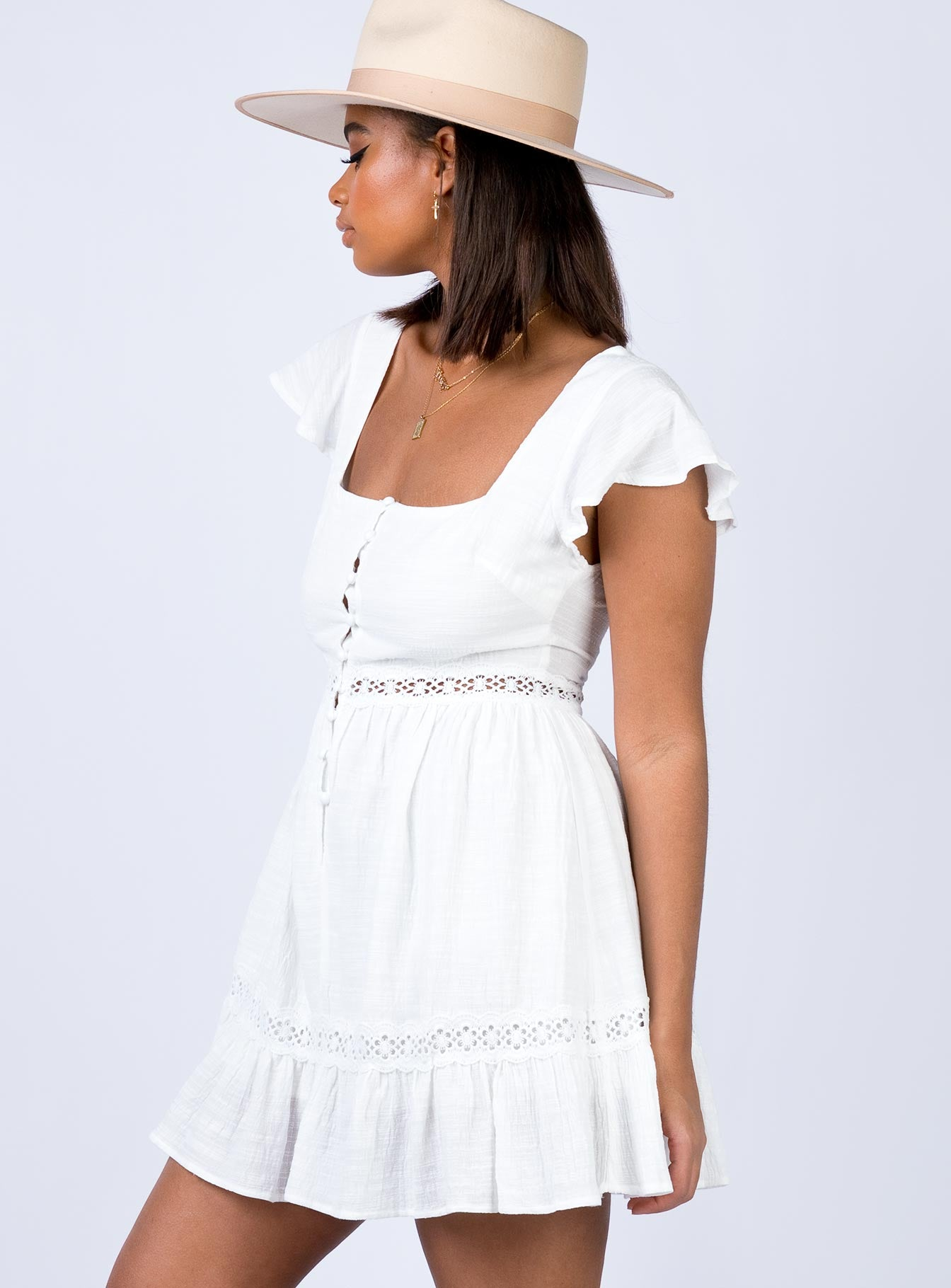 Brohio Mini Dress White