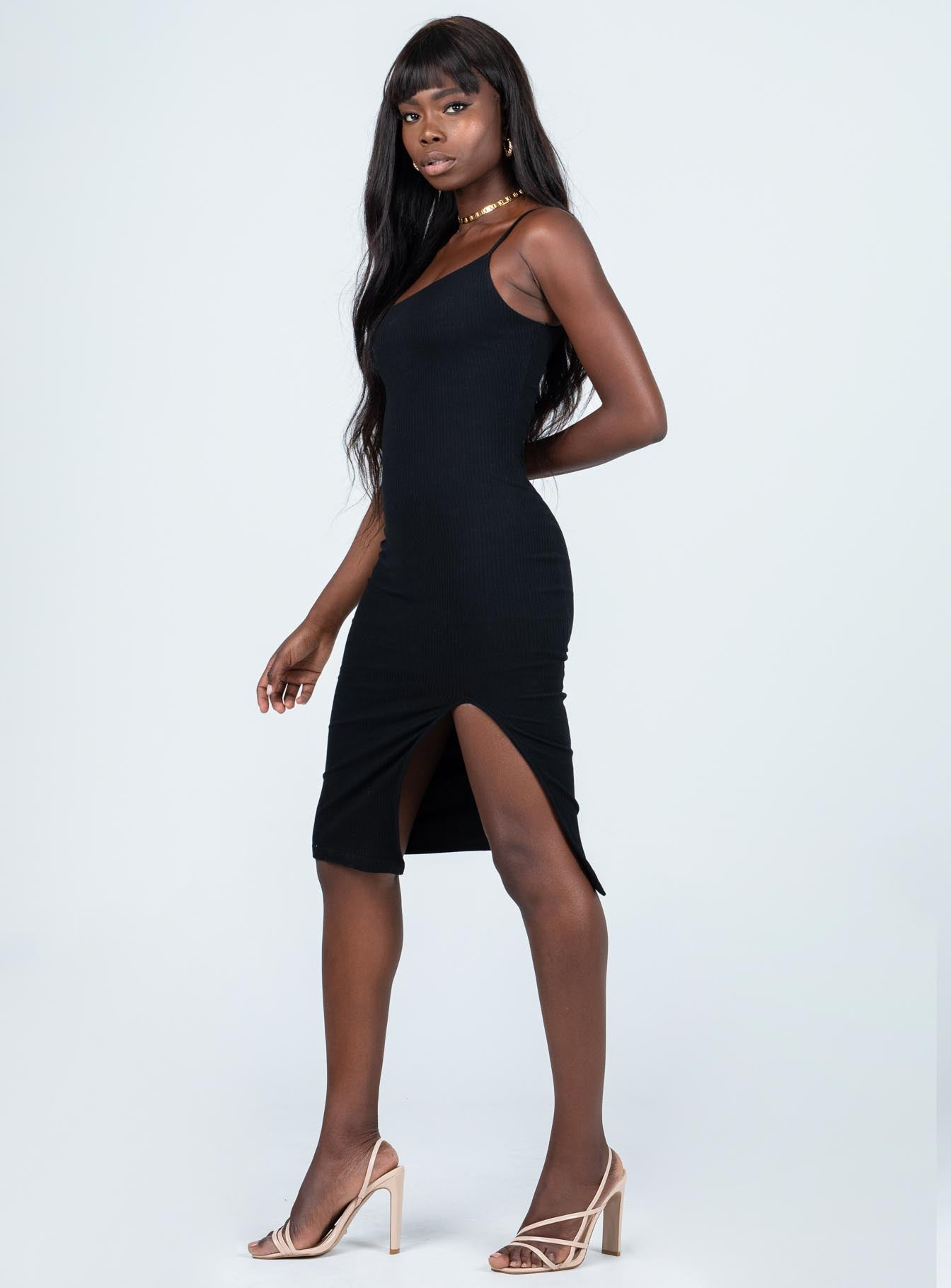 Shae Midi Dress Black