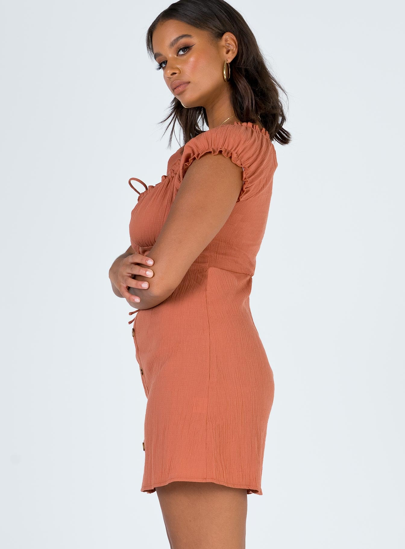 The Elliott Mini Dress Rust