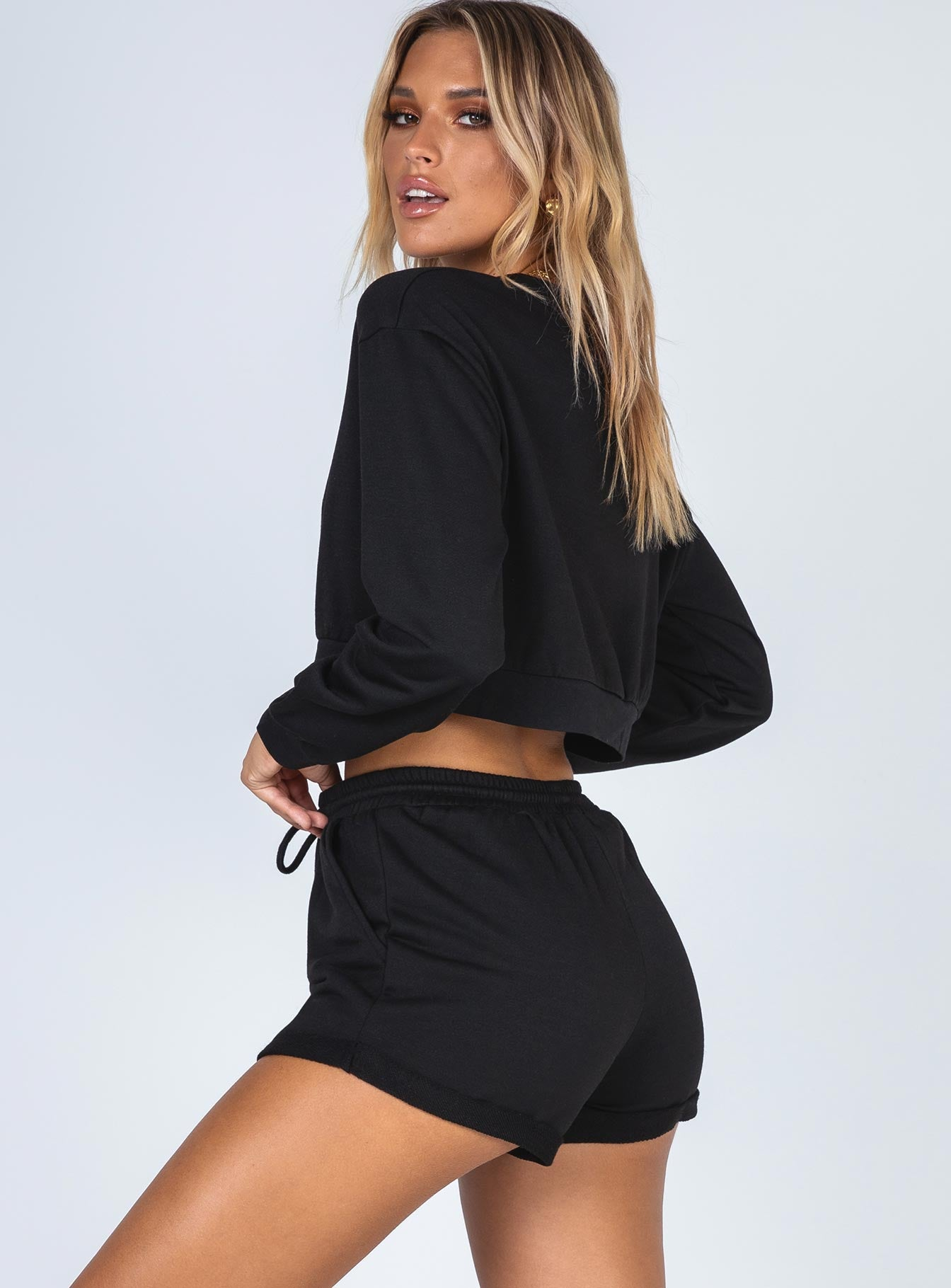 Rise & Lounge Shorts Black