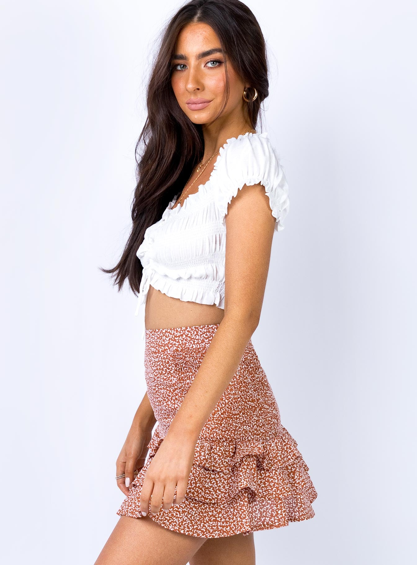 Whitta Mini Skirt Red Print