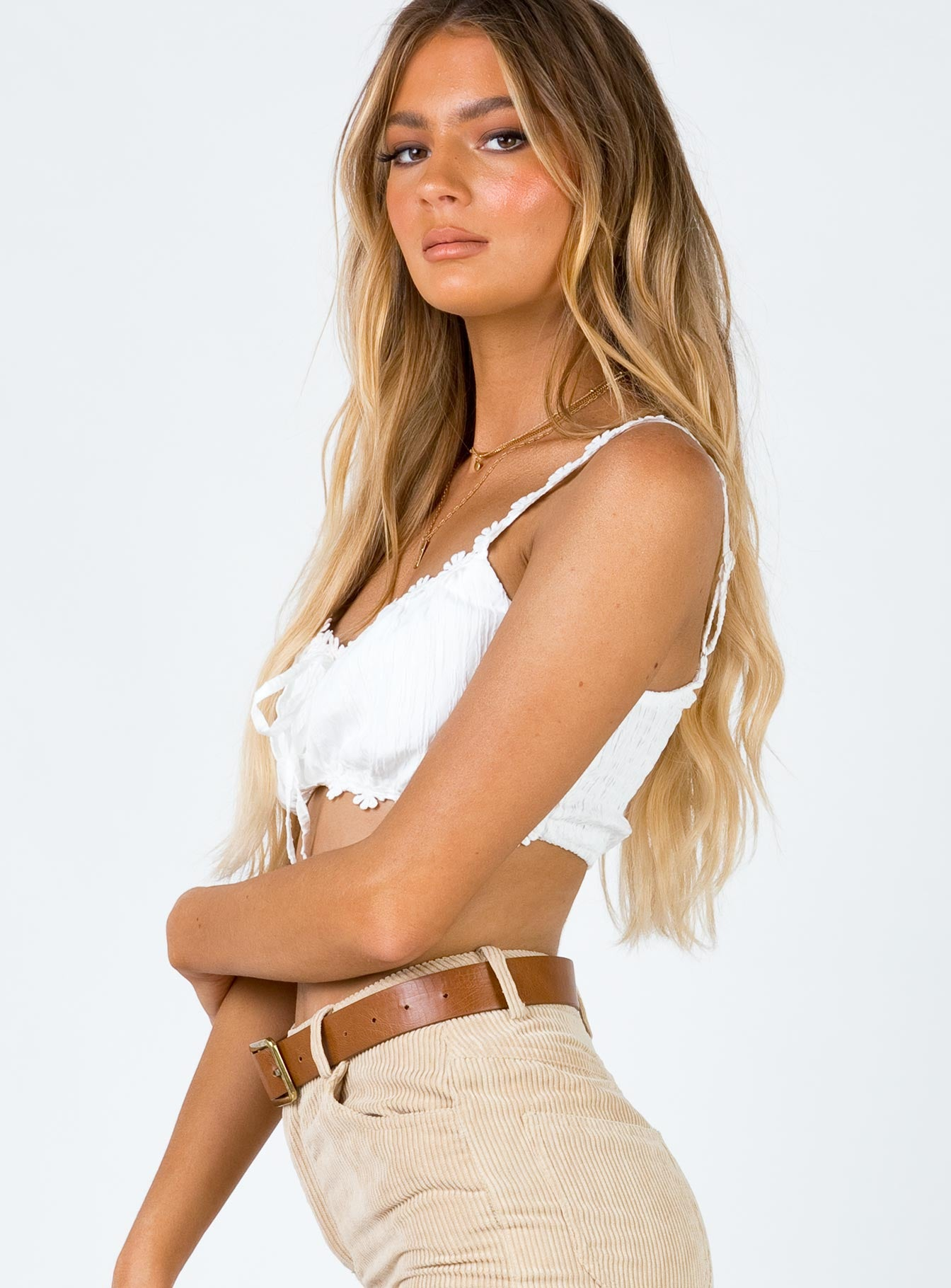 Kallie Top White