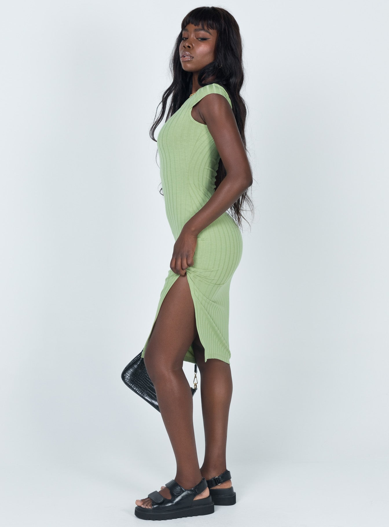 Cameron Midi Dress Green
