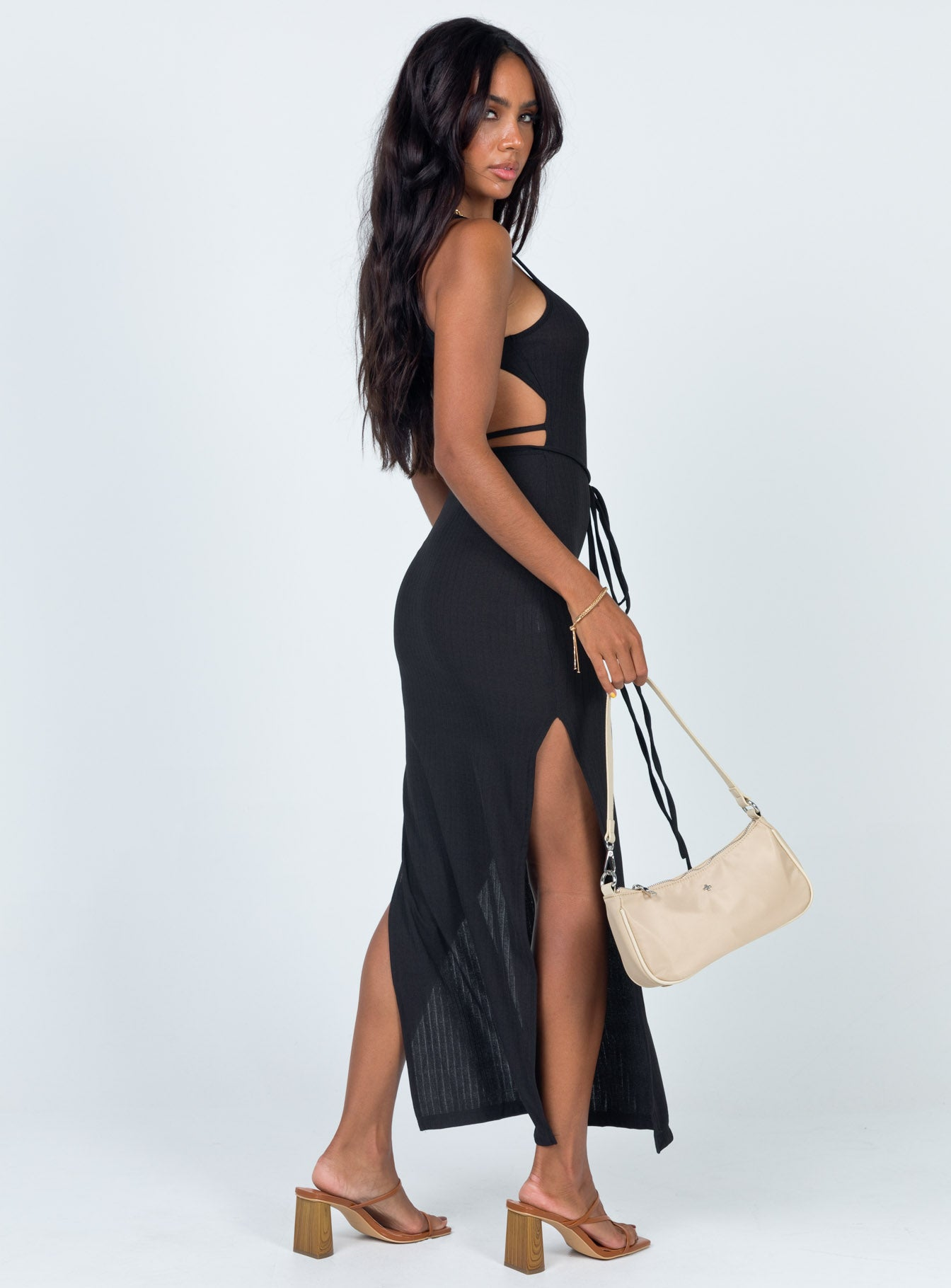 Kaya Midi Dress Black
