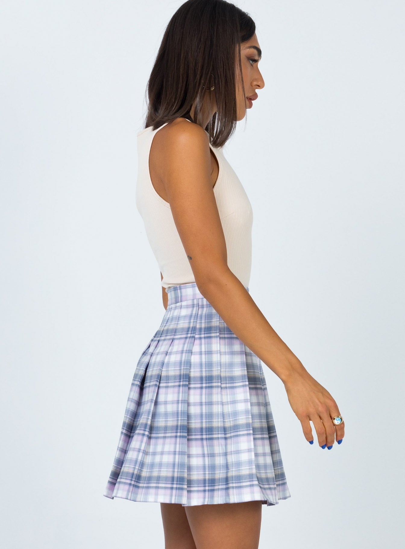 Angus Mini Skirt Blue