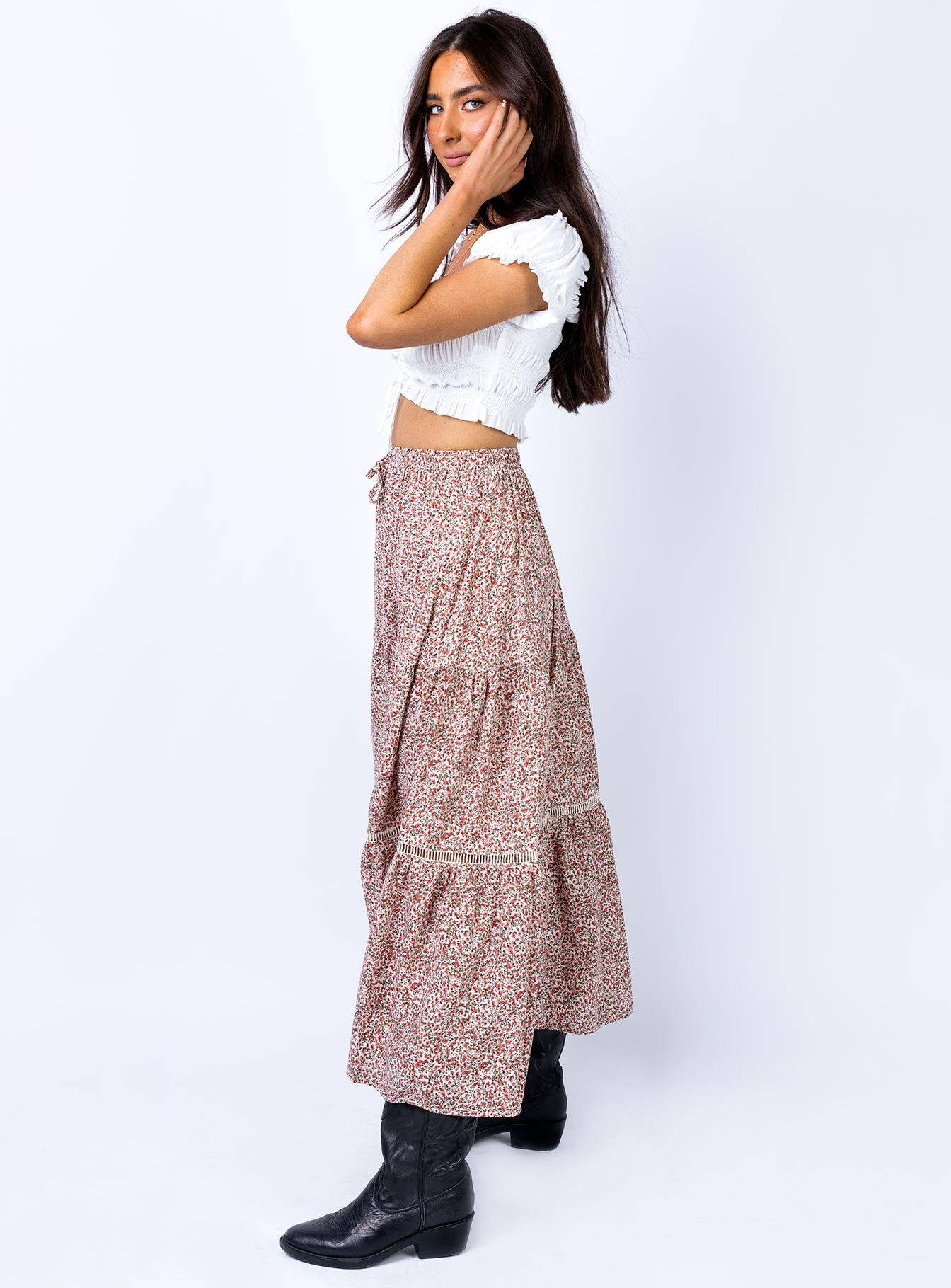 Oracle Maxi Skirt Pink/Green